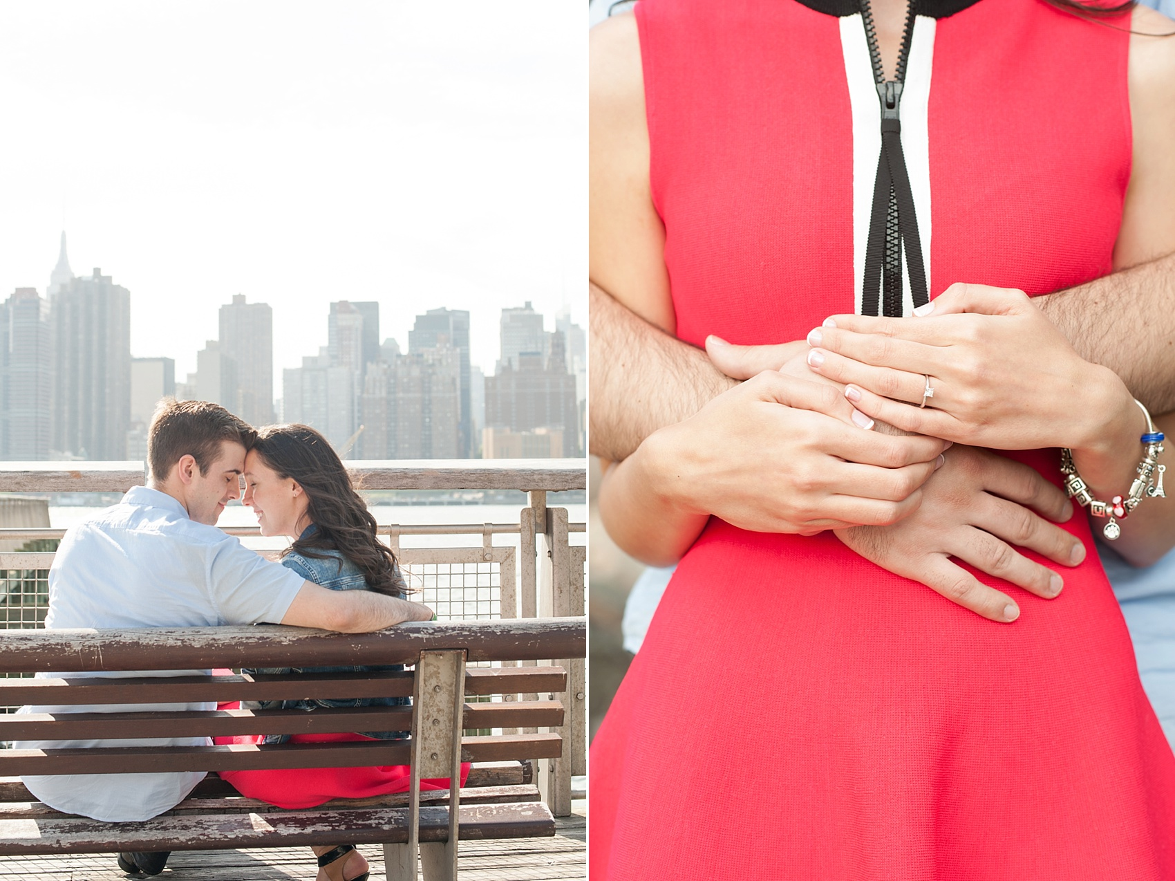 Long Island City waterfront engagement session at Gantry State Park by Mikkel Paige Photography, NYC wedding photographer.