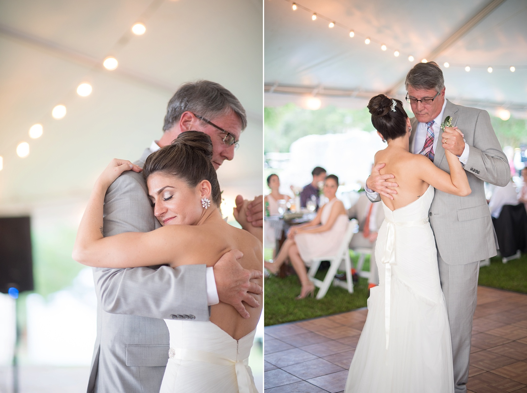 Father-daughter dance at a wedding at Haig Point in South Carolina, off the coast of Hilton Head. Photos by Mikkel Paige Photography.