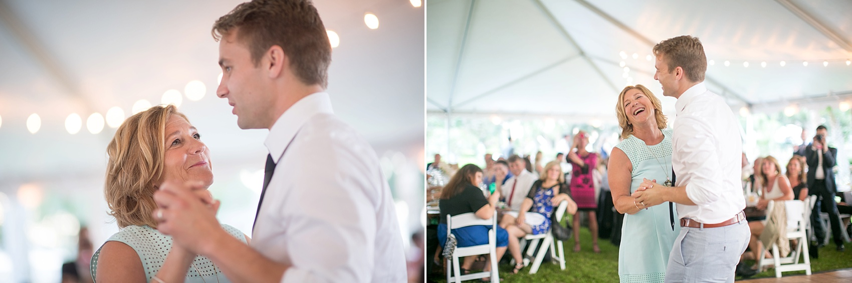 Mother-son dance at a wedding at Haig Point in South Carolina, off the coast of Hilton Head. Photos by Mikkel Paige Photography.