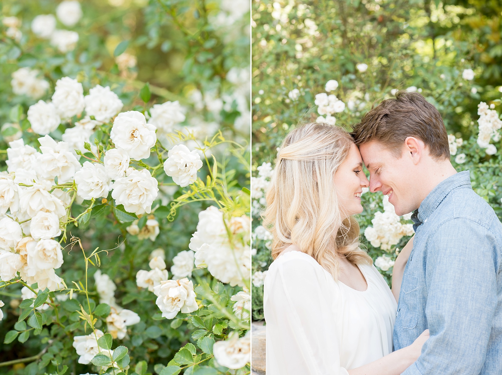 Duke Gardens engagement photos in Durham, North Carolina. Photos by Raleigh wedding photographer, Mikkel Paige Photography.