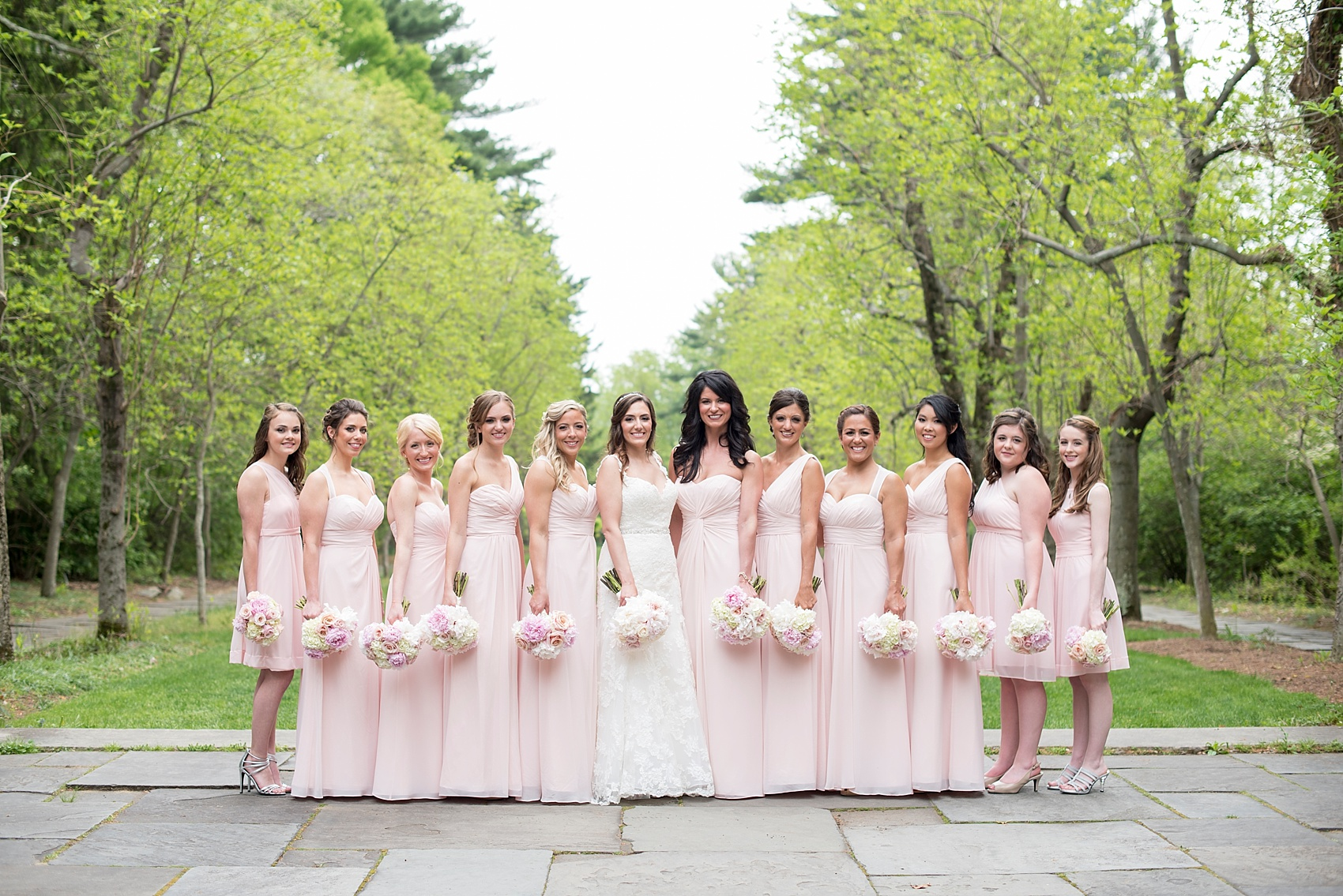 Bride And Groom Mansion Image Skylands Manor Wedding Photos By Nj Photographer Mikkel Paige Bridesmaids Looking Beautiful In Blush