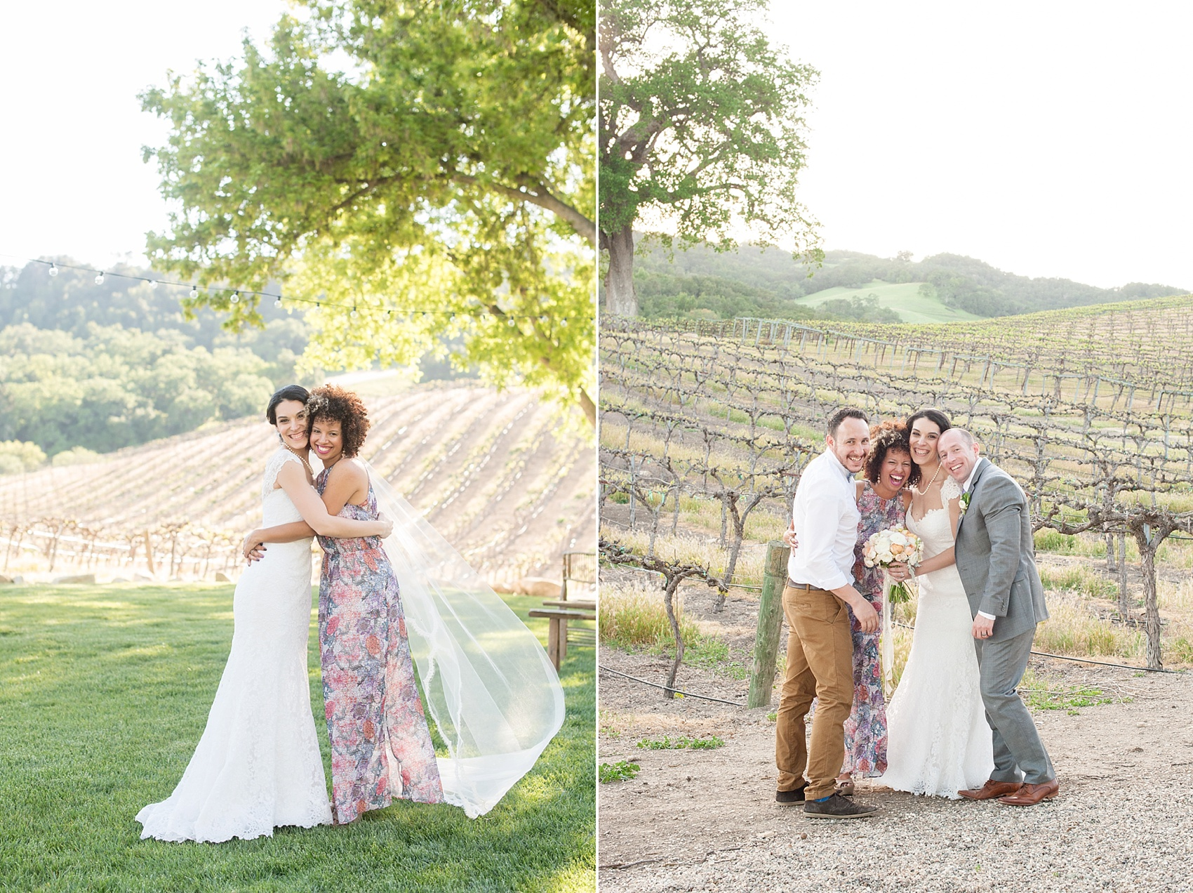 Spring vineyard elopement with Mikkel Paige, destination wedding photographer. Held at HammerSky Vineyard, south of San Francisco.