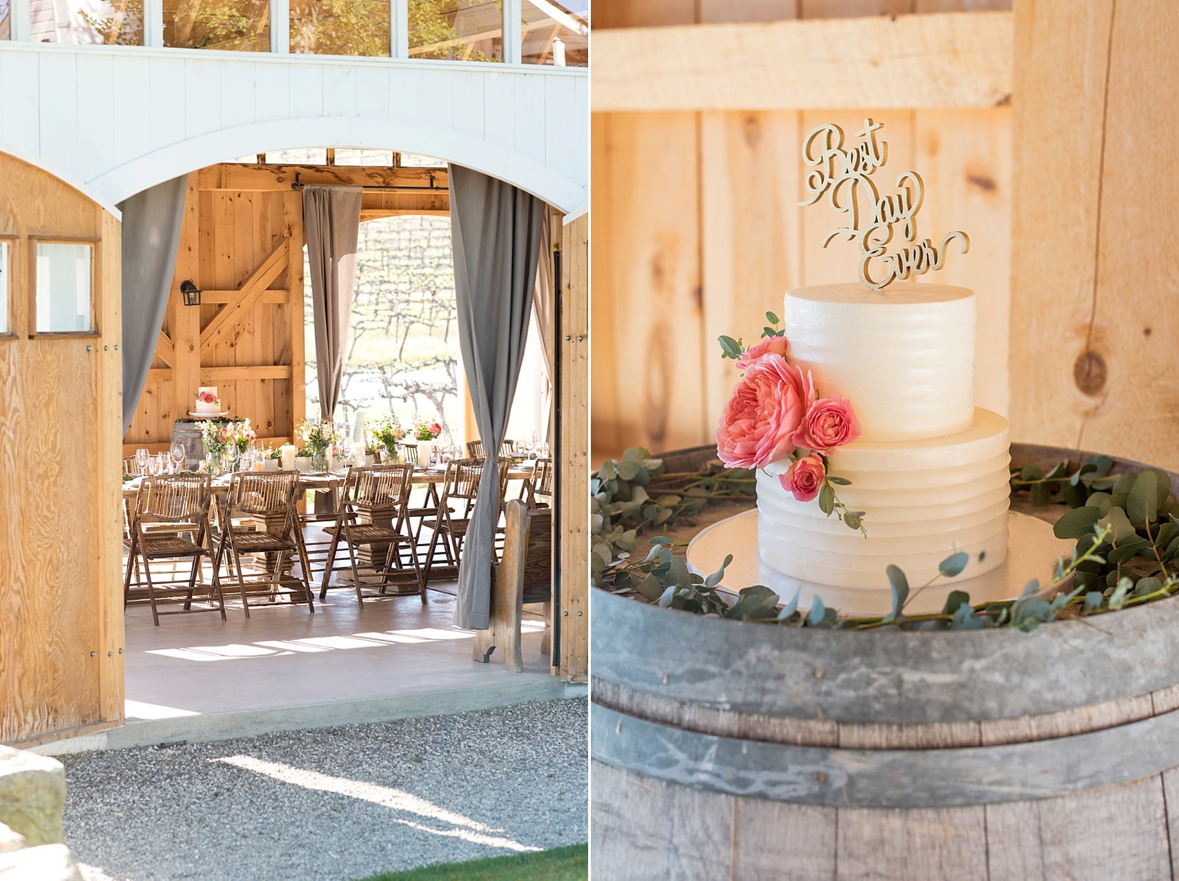 Spring vineyard elopement with barn reception. Photos by Mikkel Paige, destination wedding photographer. Held at HammerSky Vineyard, south of San Francisco.