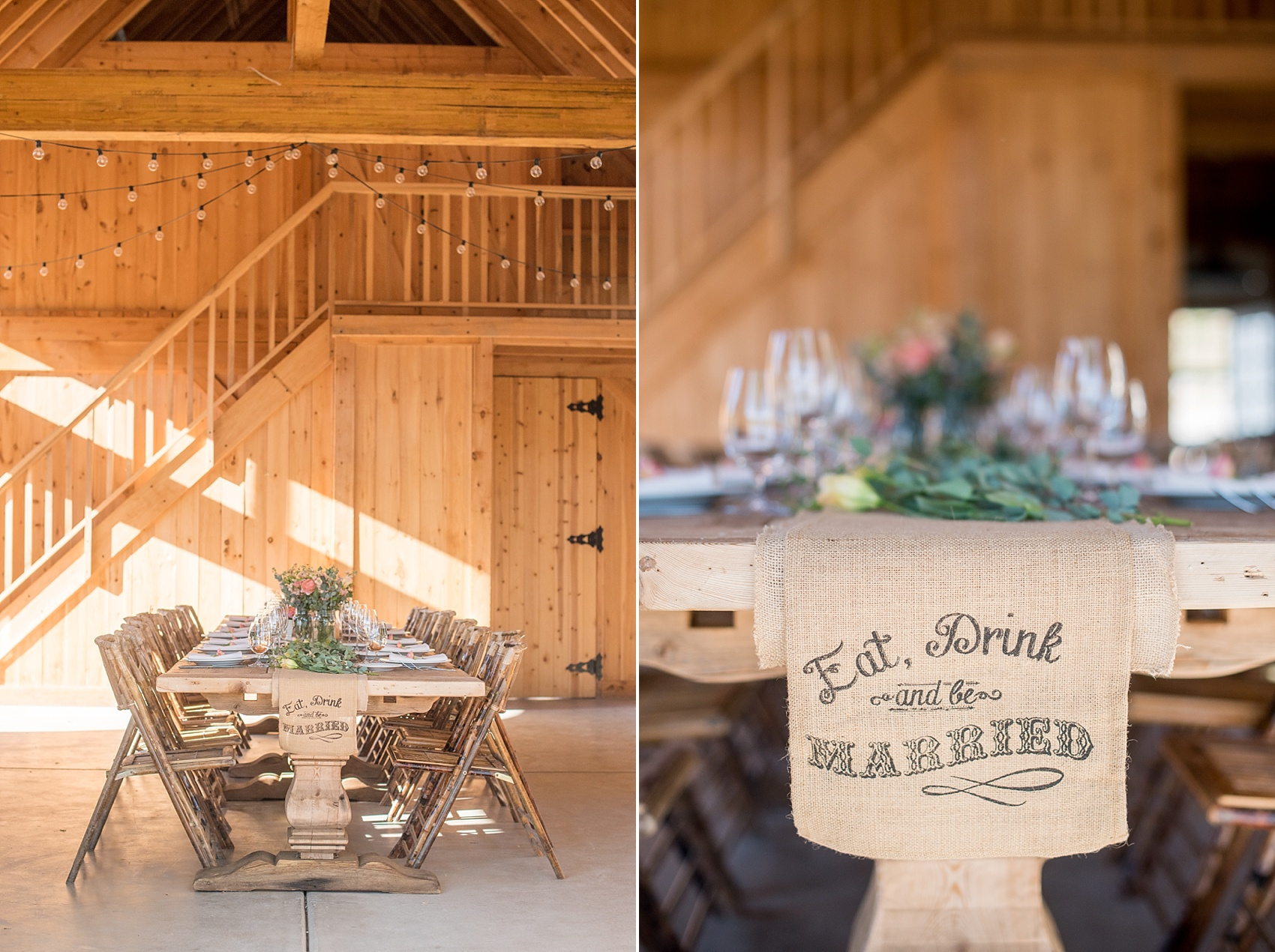 Spring vineyard elopement with barn reception and farm table. Photos by Mikkel Paige, destination wedding photographer. Held at HammerSky Vineyard, south of San Francisco.