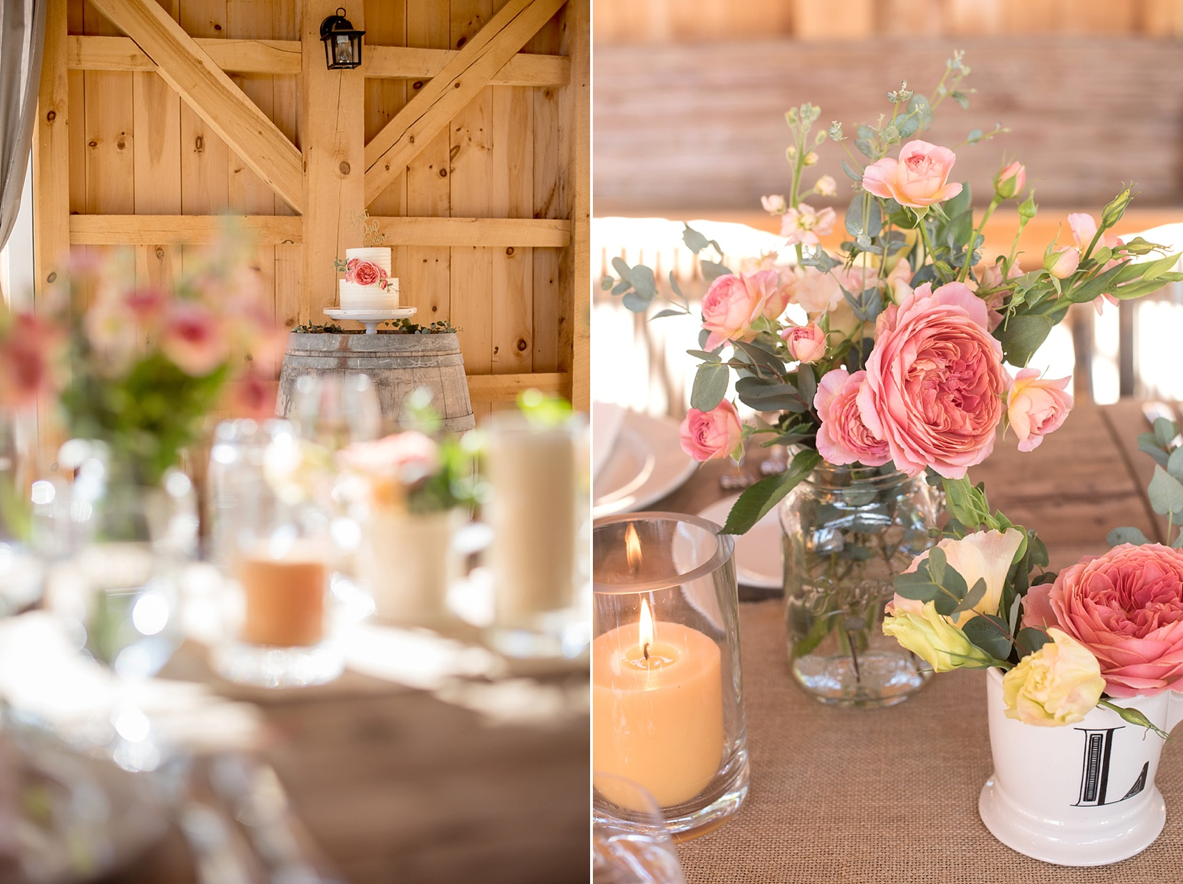 Spring vineyard elopement with pink flowers and barn reception. Photos by Mikkel Paige, destination wedding photographer. Held at HammerSky Vineyard, south of San Francisco.