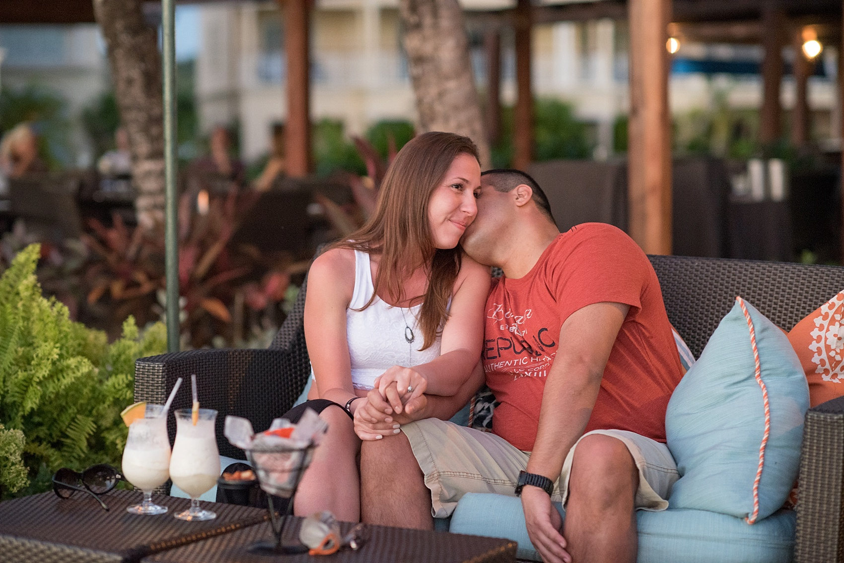 St. Lucia Proposal ideas - beachside romance at an oceanfront dinner at The Landings resort.  Photos by destination wedding photographer Mikkel Paige Photography.