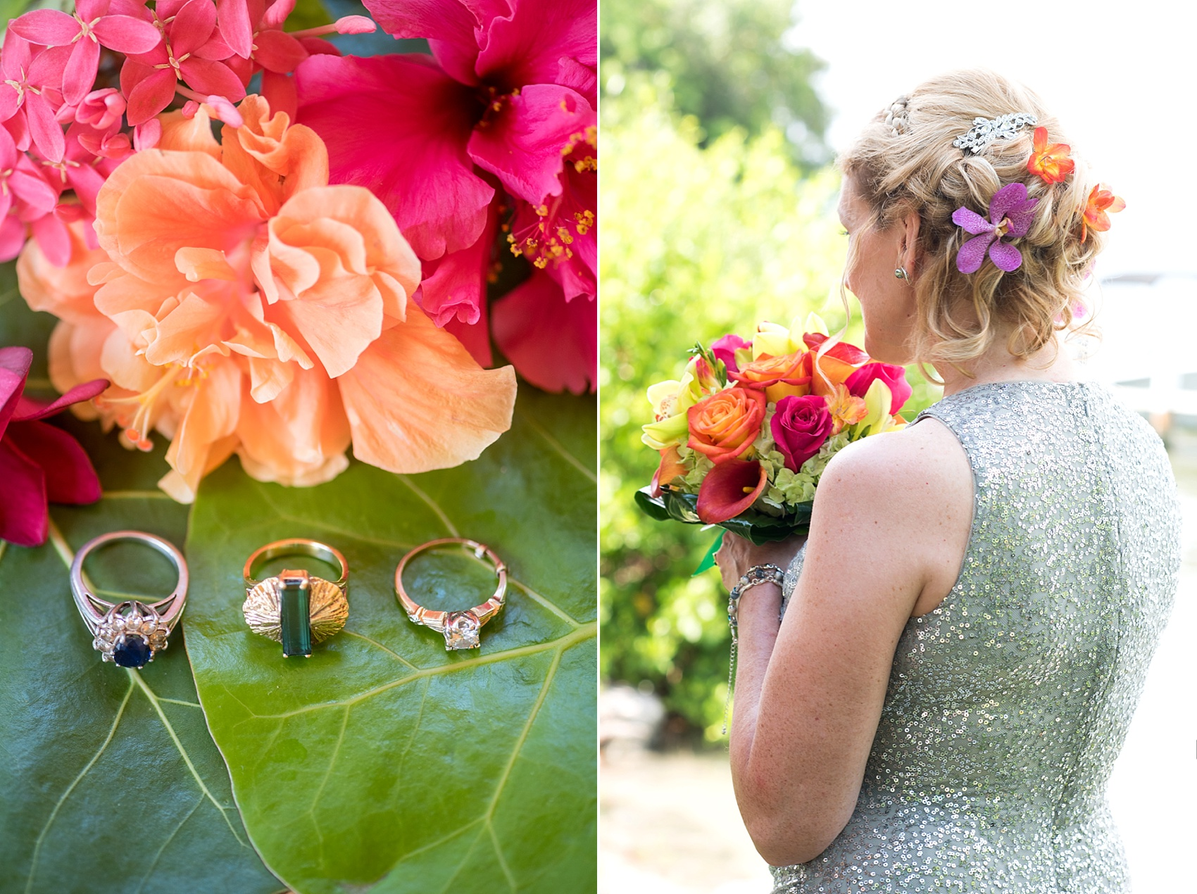 Captiva Island unique wedding rings for a beach ceremony at Tween Waters Inn. Photos by Mikkel Paige Photography.