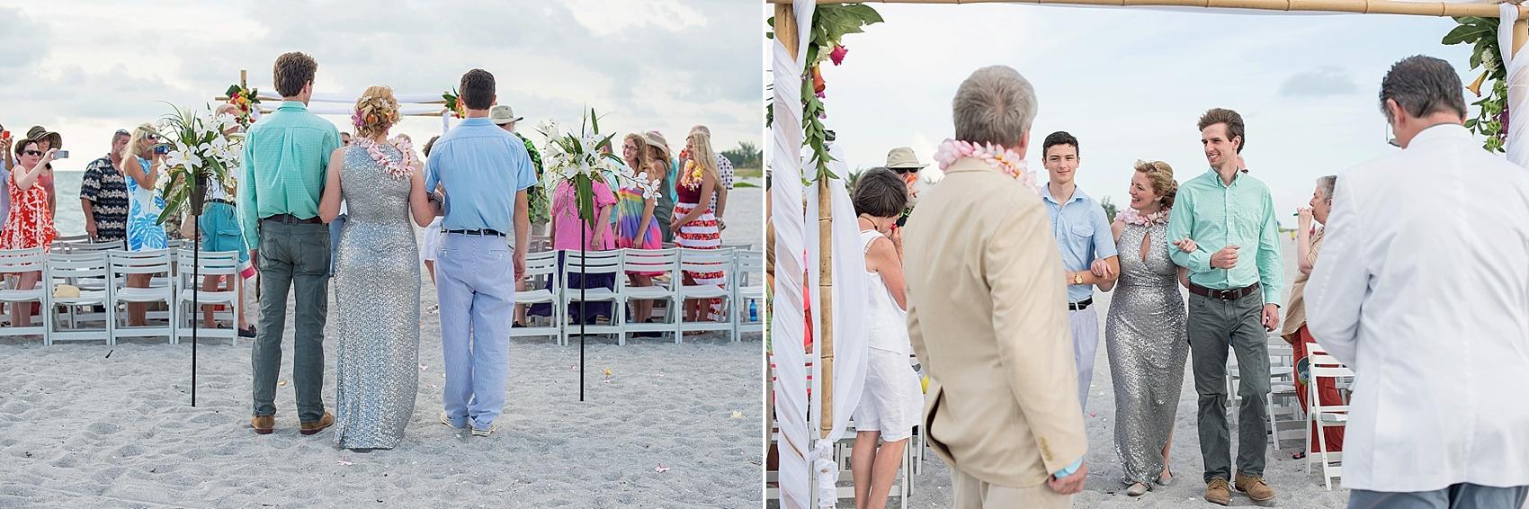 Captiva Island wedding beach ceremony. Photos by Mikkel Paige Photography.