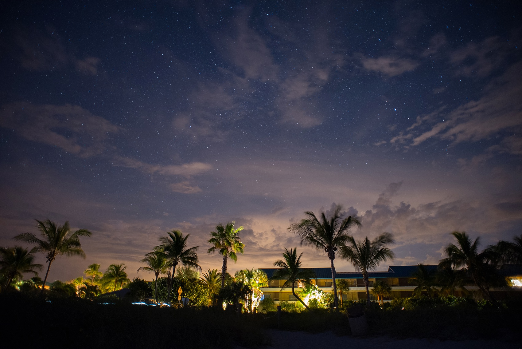Captiva Island wedding at Tween Waters Inn night photography. Photos by Mikkel Paige Photography.
