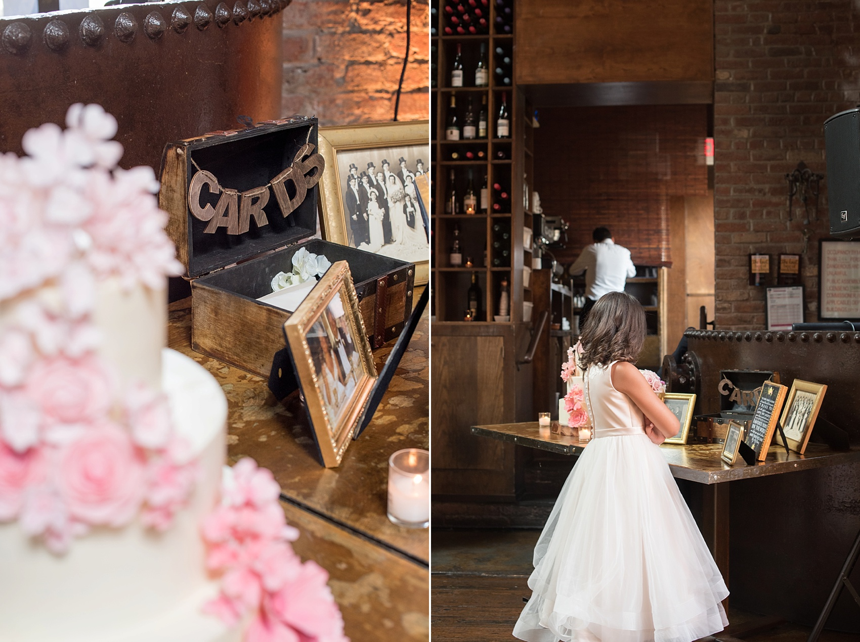 Rustic romantic card box at My Moon Brooklyn, Williamsburg NYC, intimate wedding. Photos by Mikkel Paige Photography.