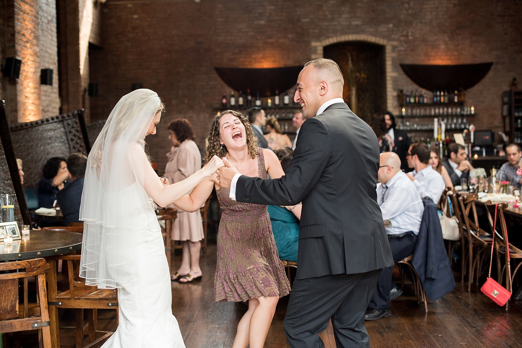 Rustic romantic My Moon Brooklyn, Williamsburg NYC, intimate wedding. First dance with the bride and groom. Photos by Mikkel Paige Photography.