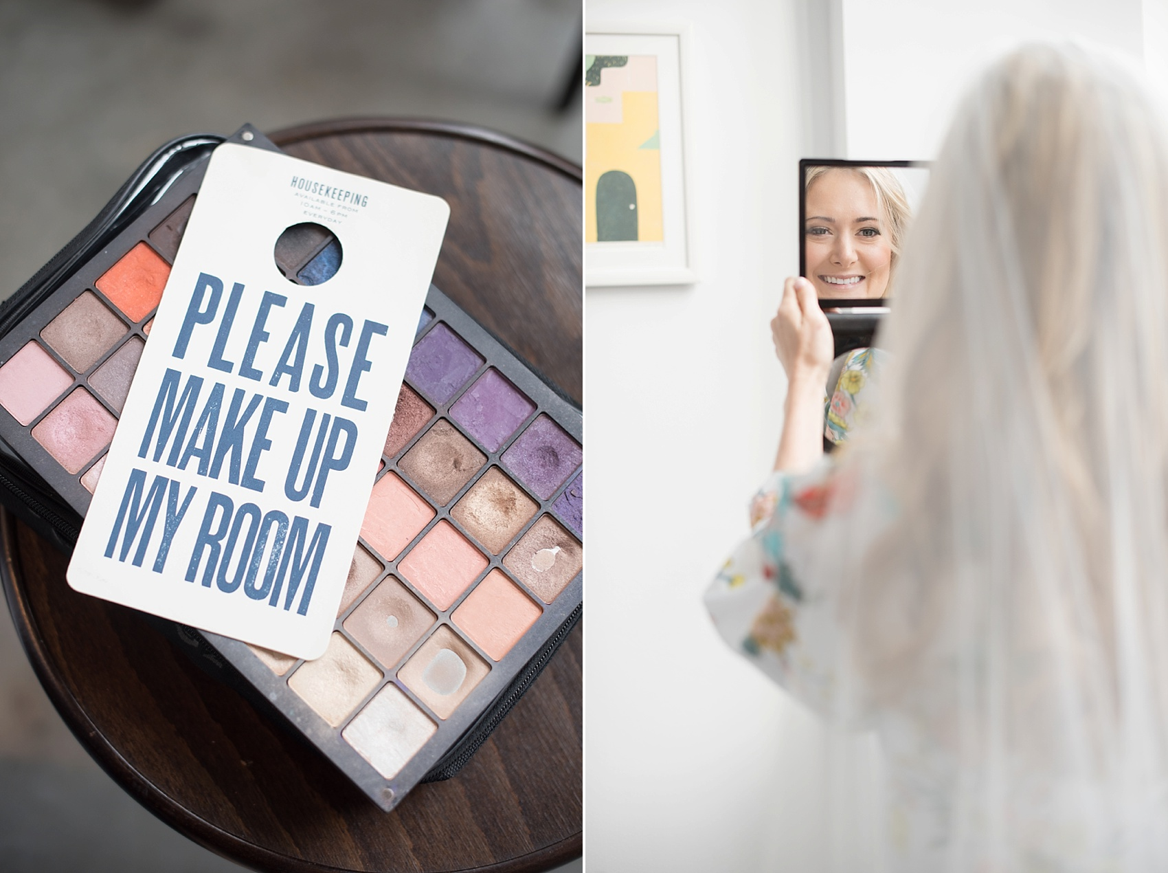 Bridal portraits and getting ready at the Wythe Hotel in Williamsburg, Brooklyn. Images by Mikkel Paige Photography.