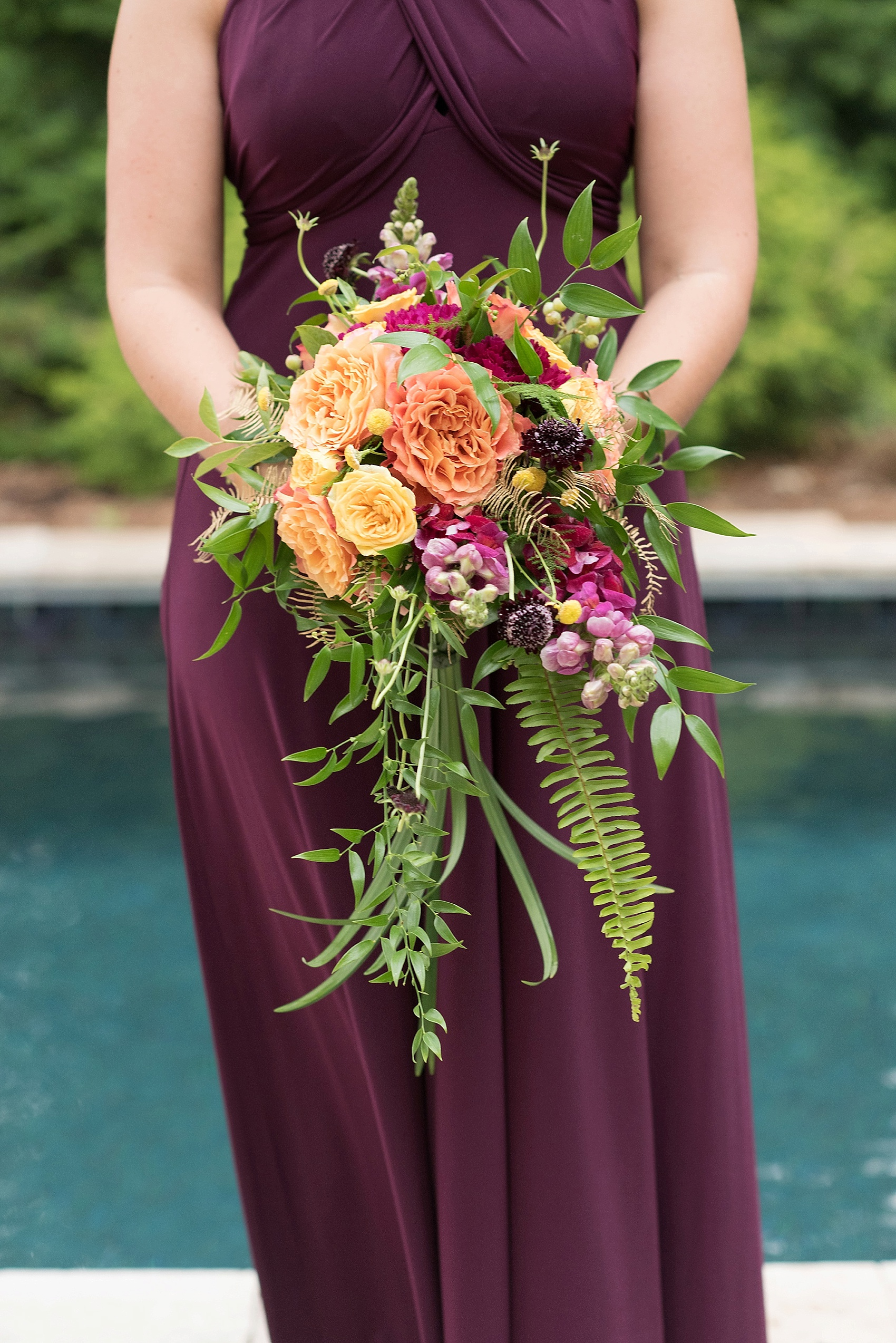 Raleigh wedding photographer, Mikkel Paige, captures elopement dinner inspiration in North Raleigh, North Carolina. Flowers by Eclectic Sage.