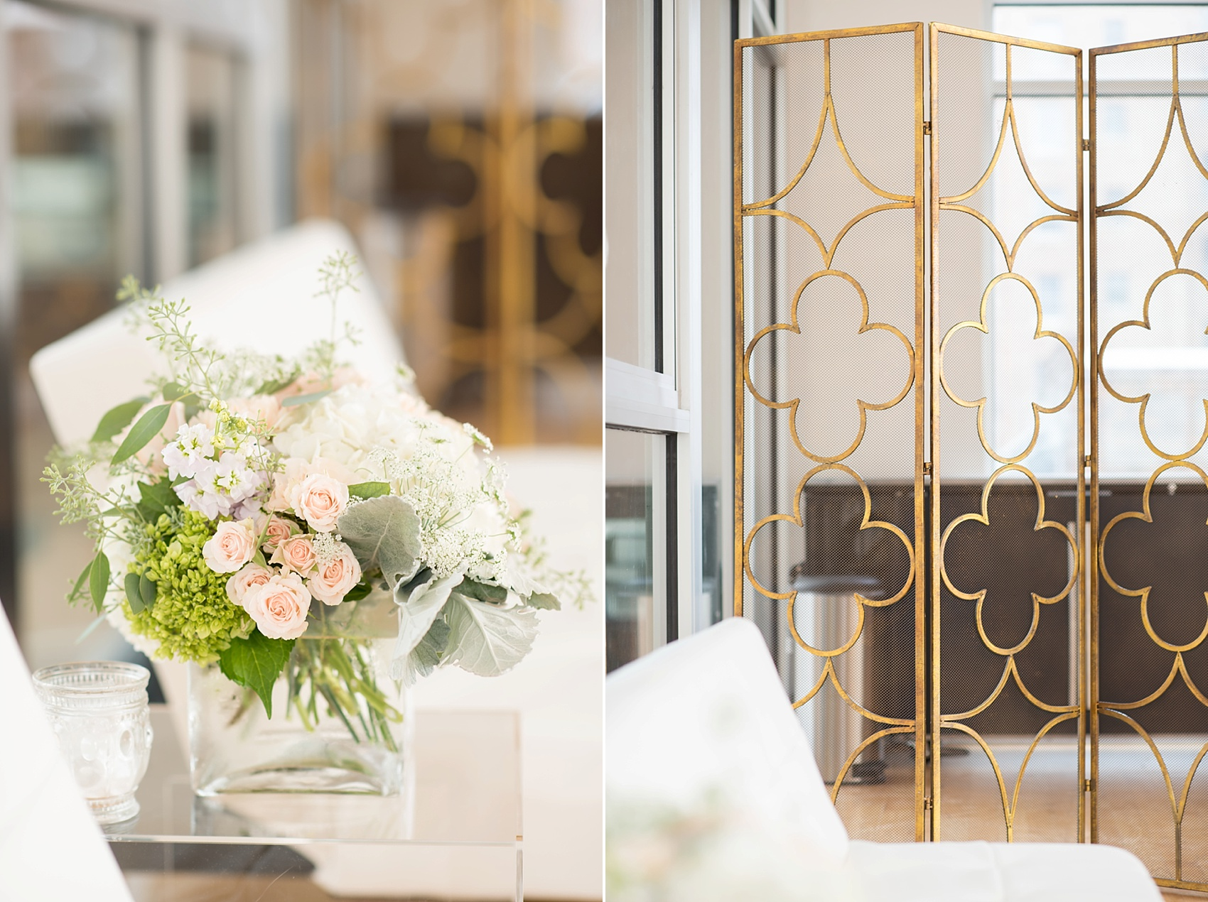 The Glass Box, downtown Raleigh wedding venue. Photos by Mikkel Paige Photography, flowers by SE Floral.