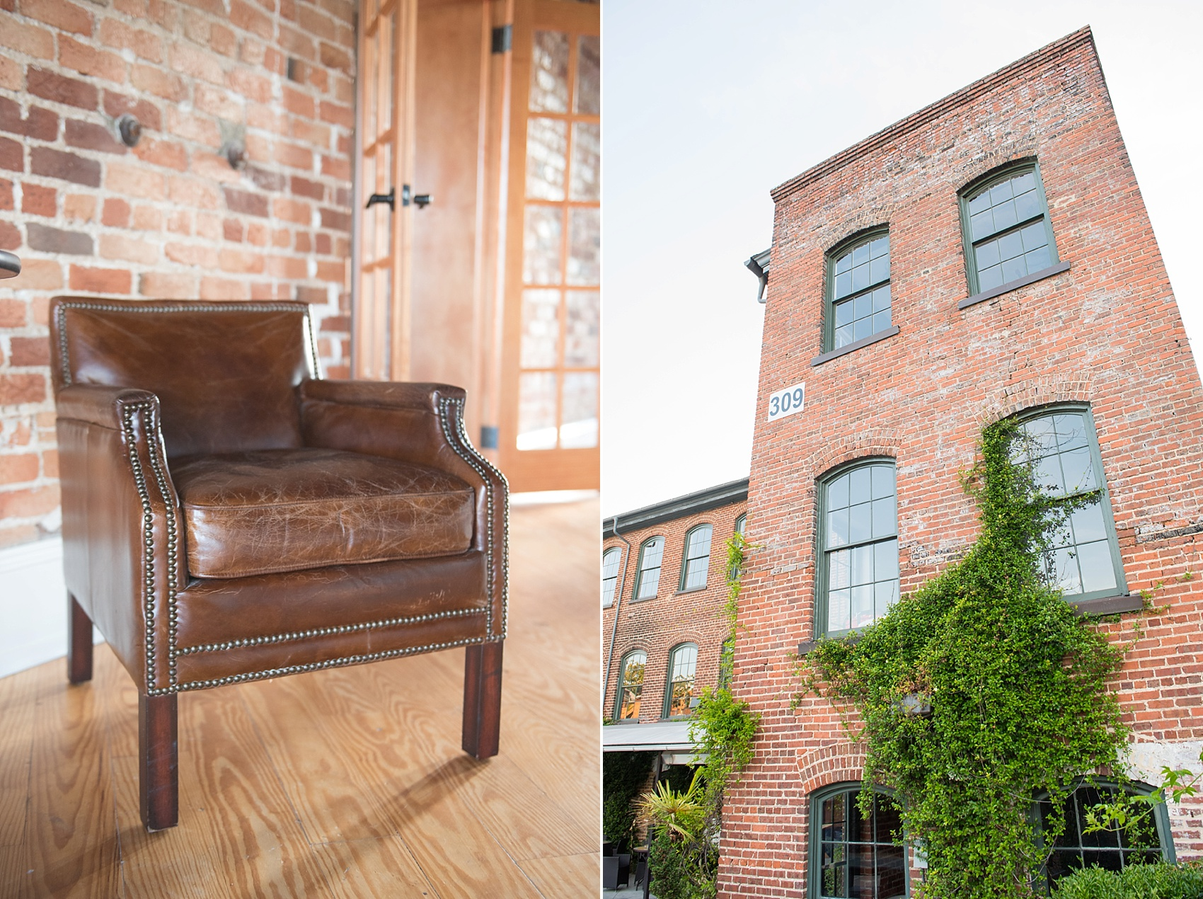 The Knitting Mill rustic charm venue in downtown Raleigh. Photos by Mikkel Paige Photography, Raleigh wedding photographer.