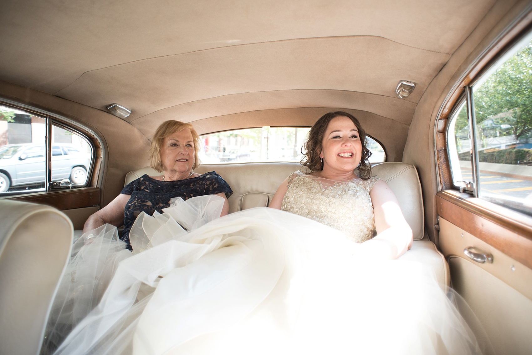 501 Union lesbian wedding - vintage Rolls Royce transportation! Photos by Mikkel Paige Photography, in Brooklyn, NYC.