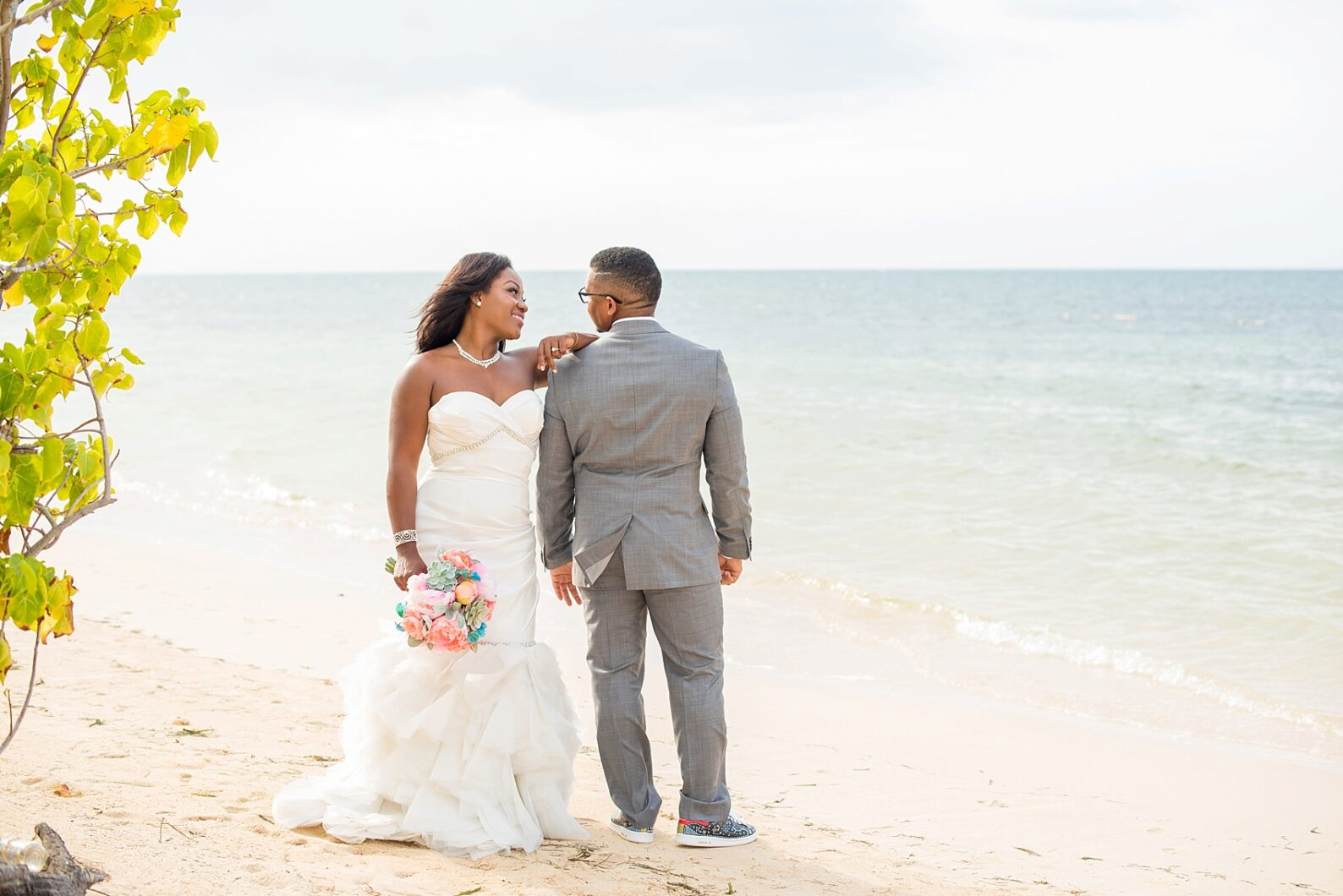 Iberostar Jamaica beach wedding photos, Montego Bay. Images by Mikkel Paige Photography.