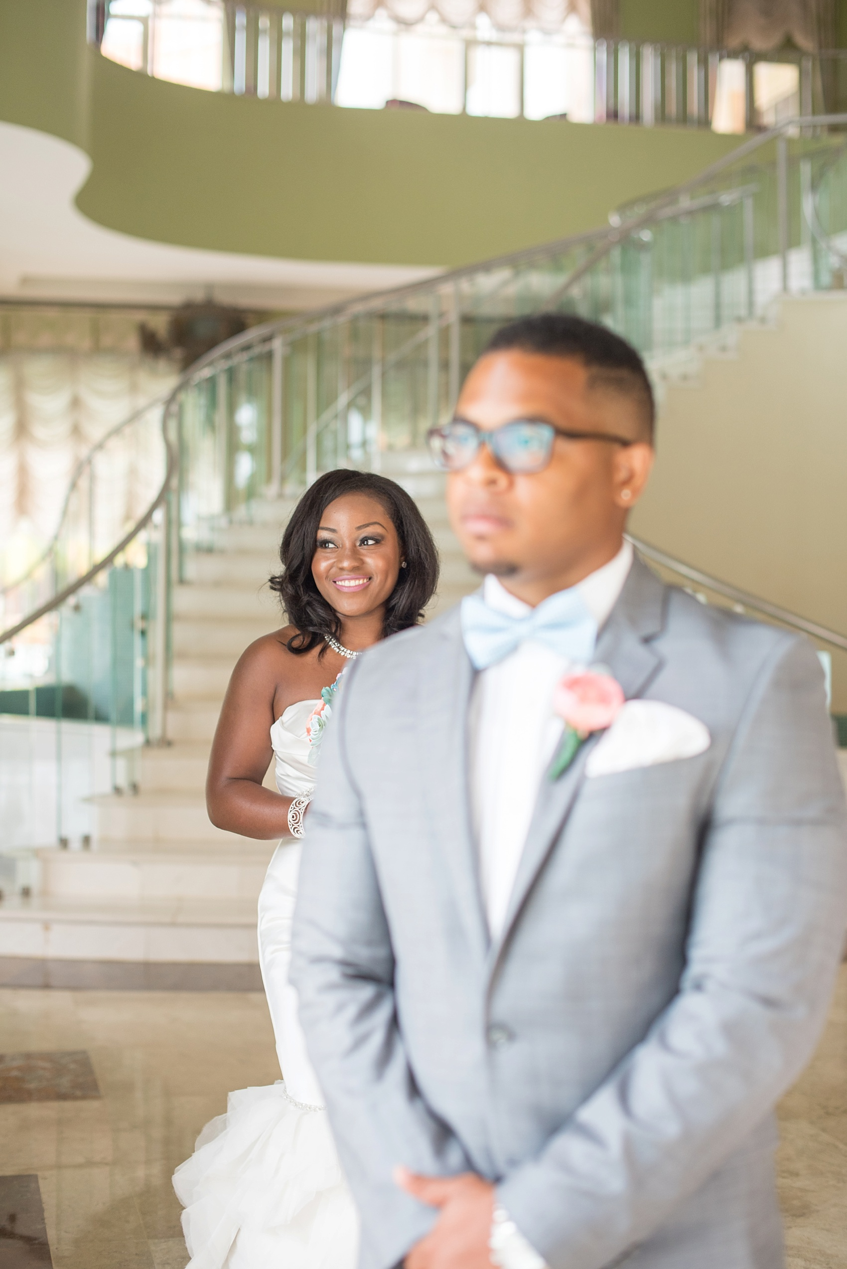 Iberostar Jamaica wedding photos, first look. Images by Mikkel Paige Photography.