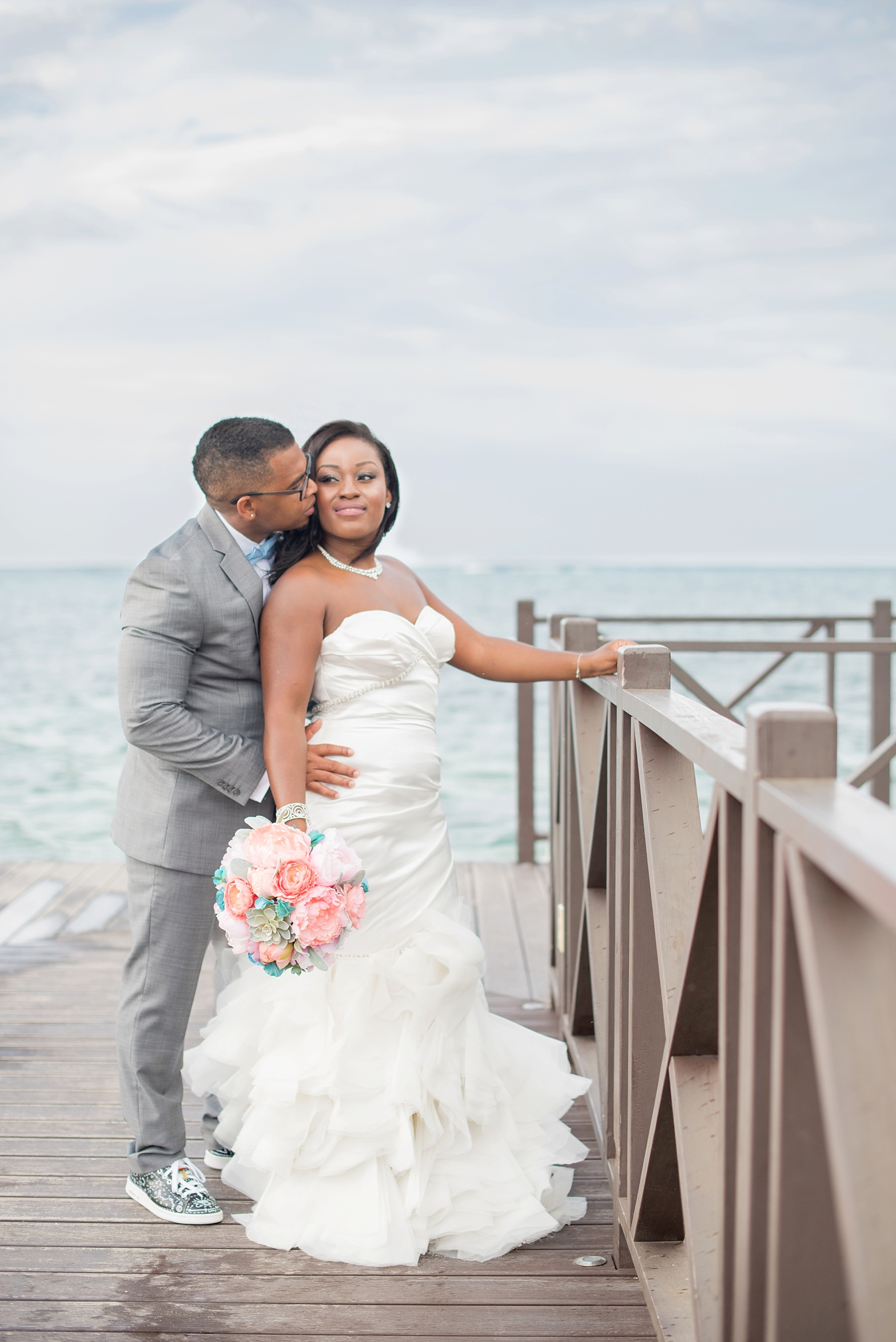 Iberostar Jamaica wedding photos, bride and groom. Images by Mikkel Paige Photography.