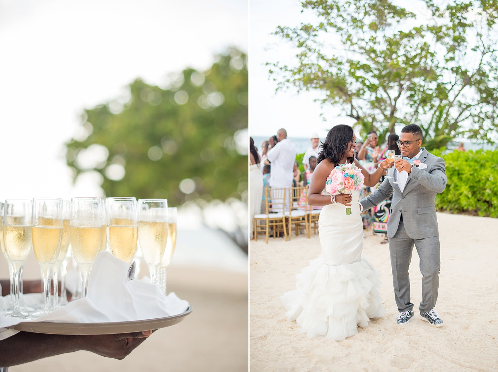 Iberostar Jamaica wedding ceremony photos. Images by Mikkel Paige Photography.