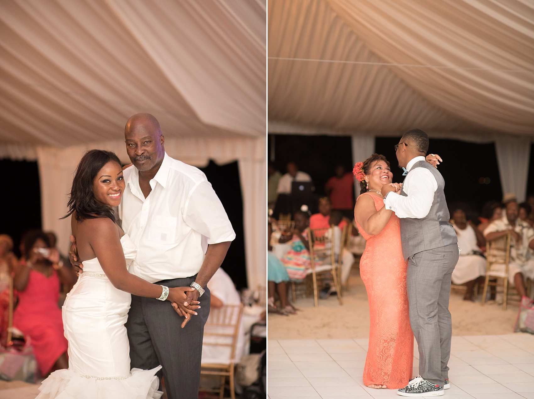 Iberostar Jamaica wedding photos, father daughter dance. Images by Mikkel Paige Photography.