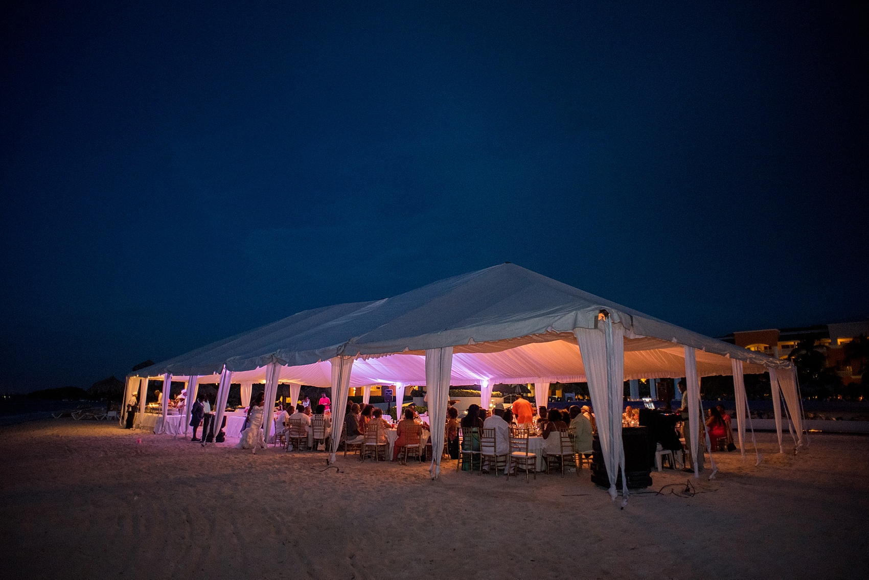 Iberostar Jamaica beach reception wedding photos. Images by Mikkel Paige Photography.