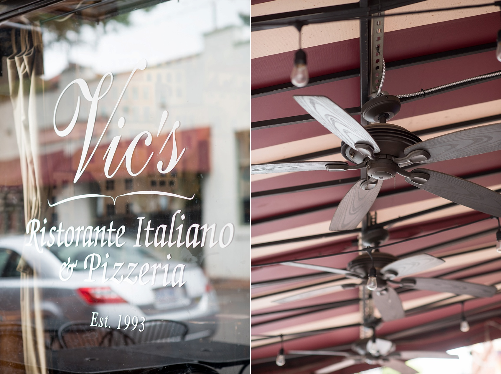 Downtown Raleigh, NC mixed race wedding. Photos by Mikkel Paige Photography. Vic's Italian first date spot!