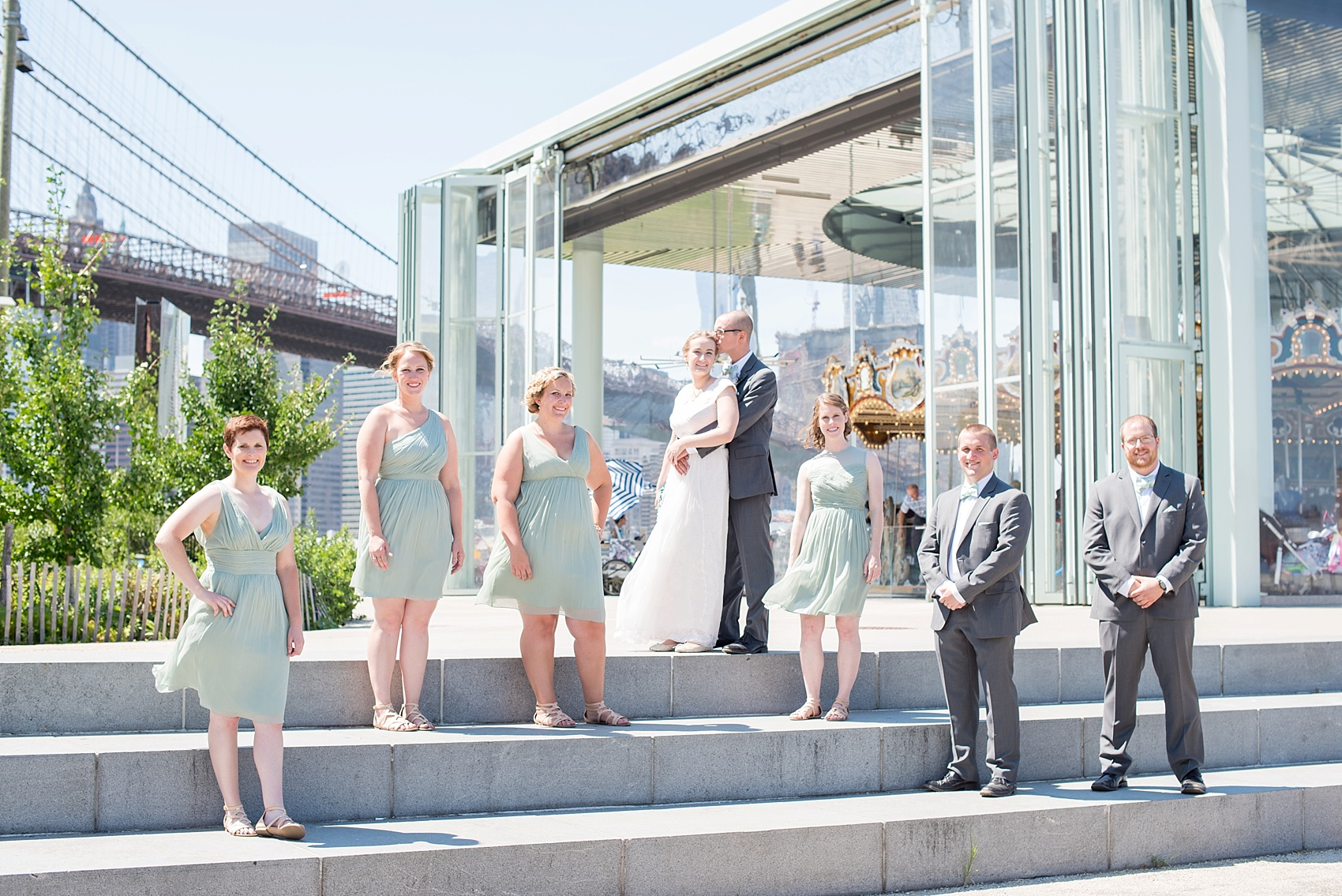 Wedding At Party Photo In Dumbo Brooklyn Bridge Park Jane S Carousel