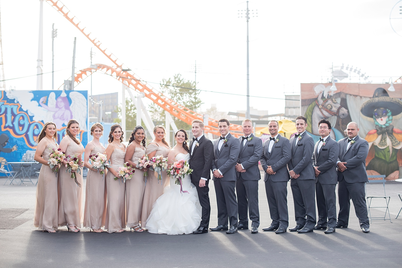 Coney Island Wedding Photos By Mikkel Paige Photography Sachi Rose Fl Design Planning