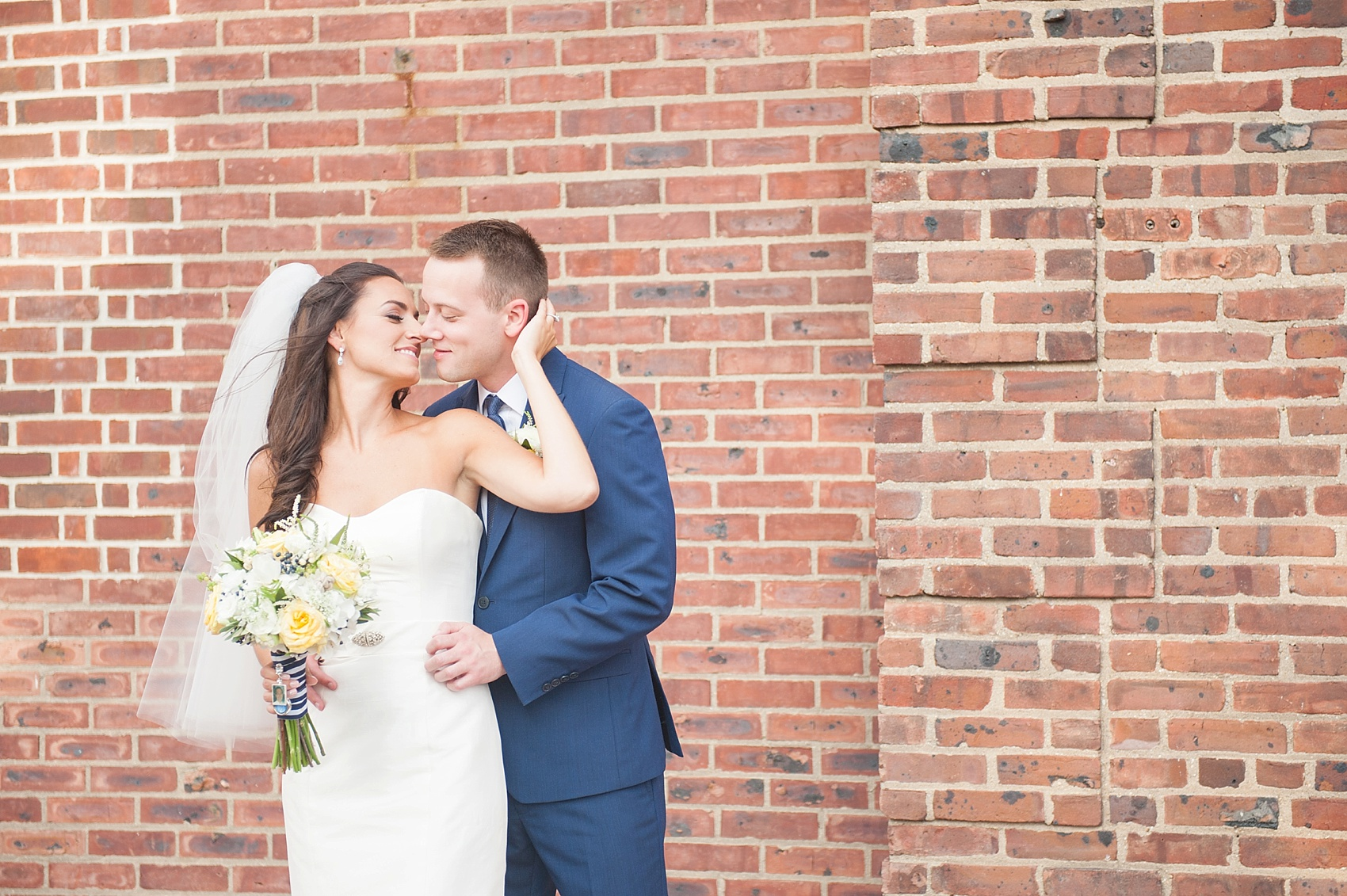 Wedding photos of the bride and groom at Molly Pitcher Inn. Photo by Mikkel Paige Photography, NJ photographer.
