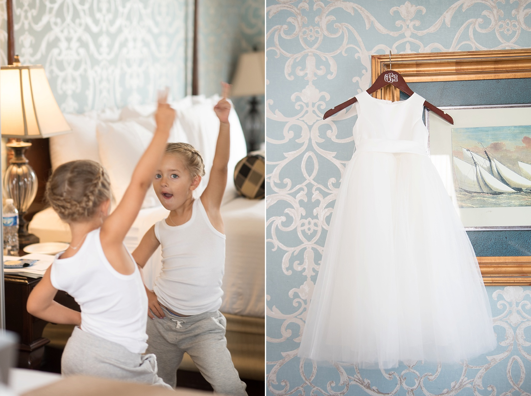 Flower girl dress image at the Molly Pitcher Inn. Photo by Mikkel Paige Photography.