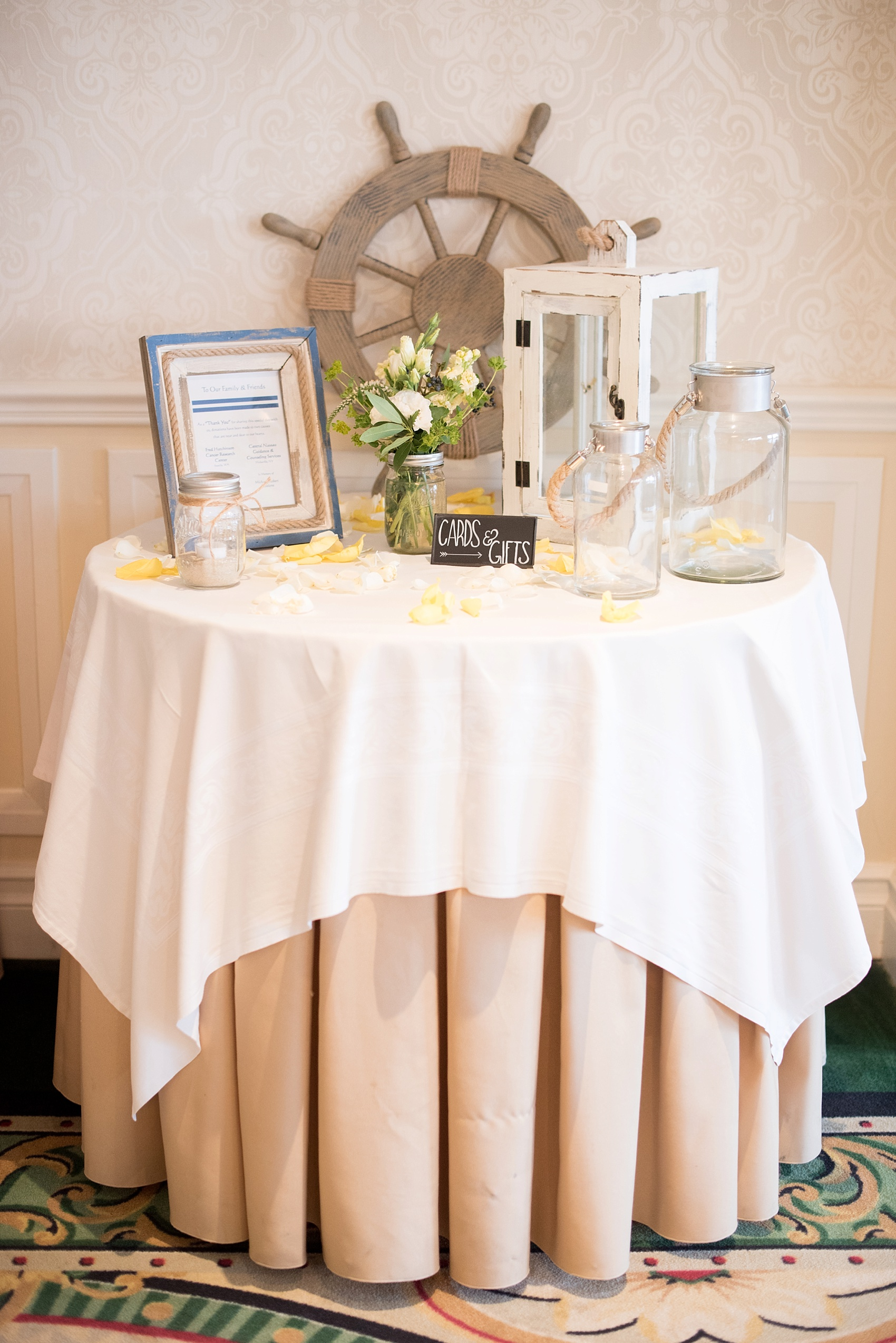 New Jersey waterfront wedding with a nautical theme at the Molly Pitcher Inn. Photo by Mikkel Paige Photography.