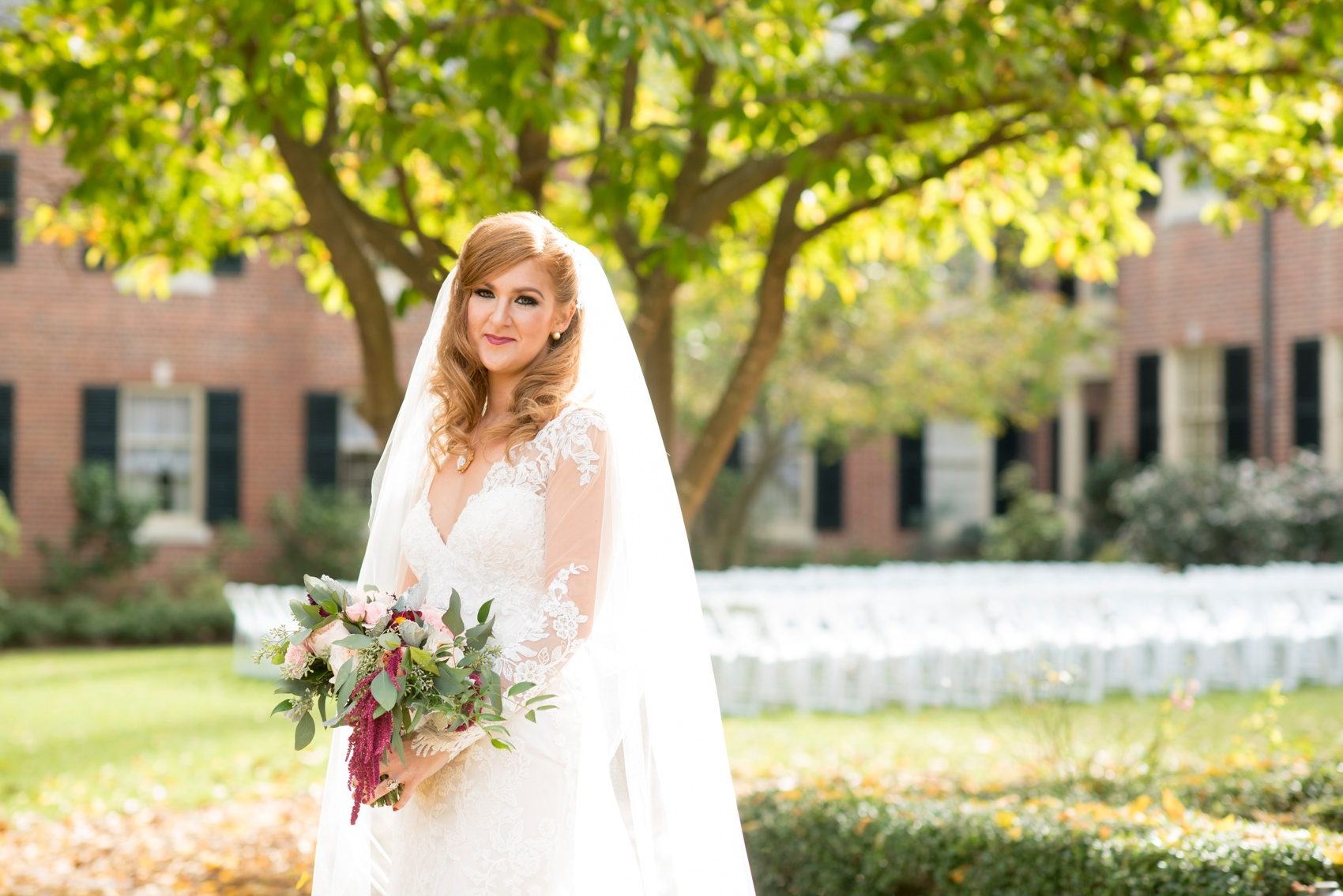 The Carolina Inn fall wedding photos by Raleigh wedding photographer, Mikkel Paige Photography.