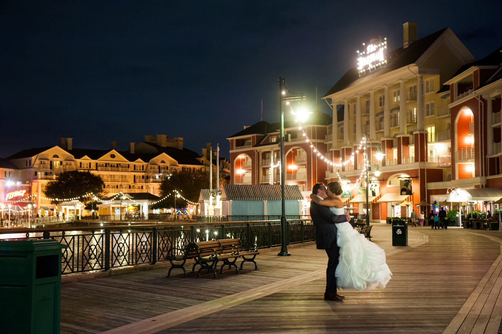 Disney World Wedding Photos By Mikkel Paige Photography At The Board Walk Reception With