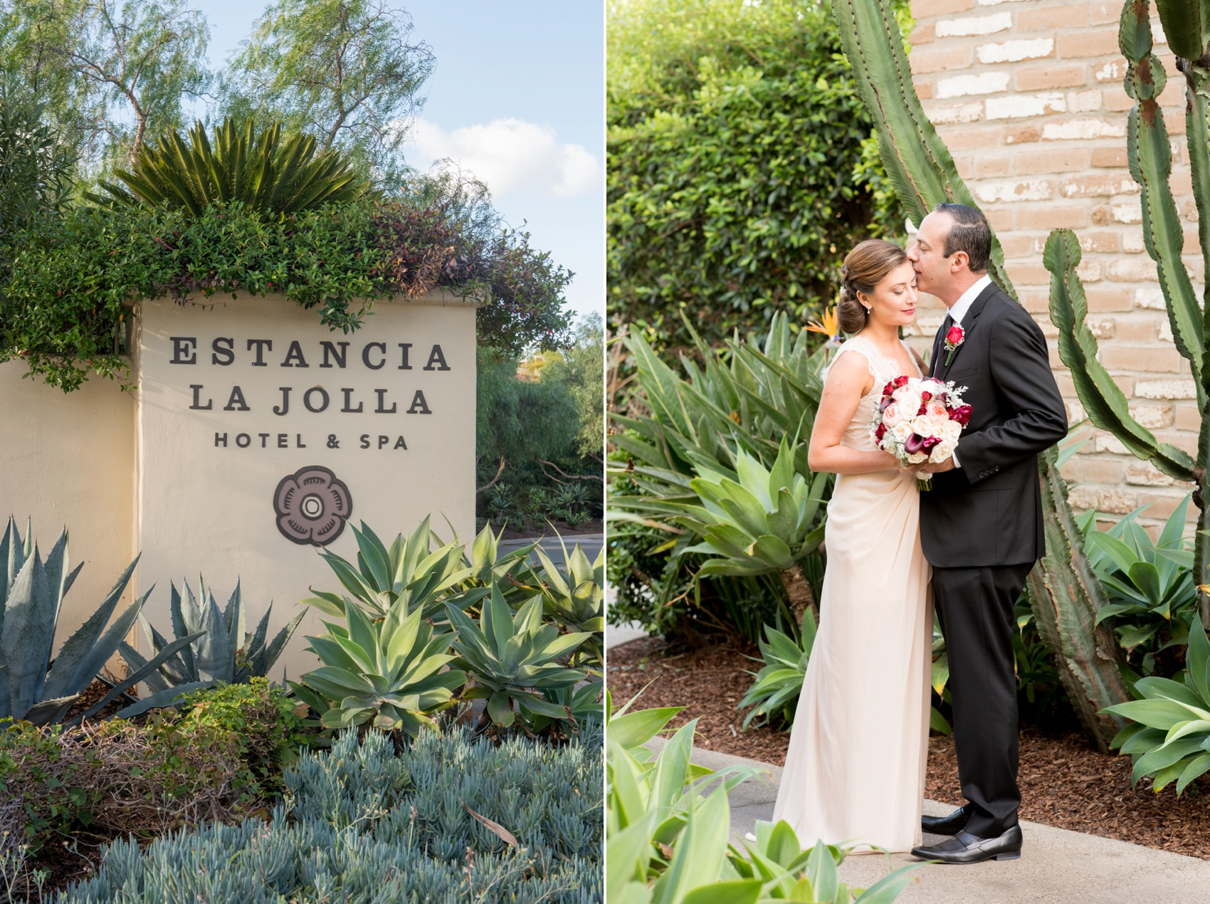 Estancia La Jolla wedding photography by Mikkel Paige Photography. Tropical wedding, California coast.