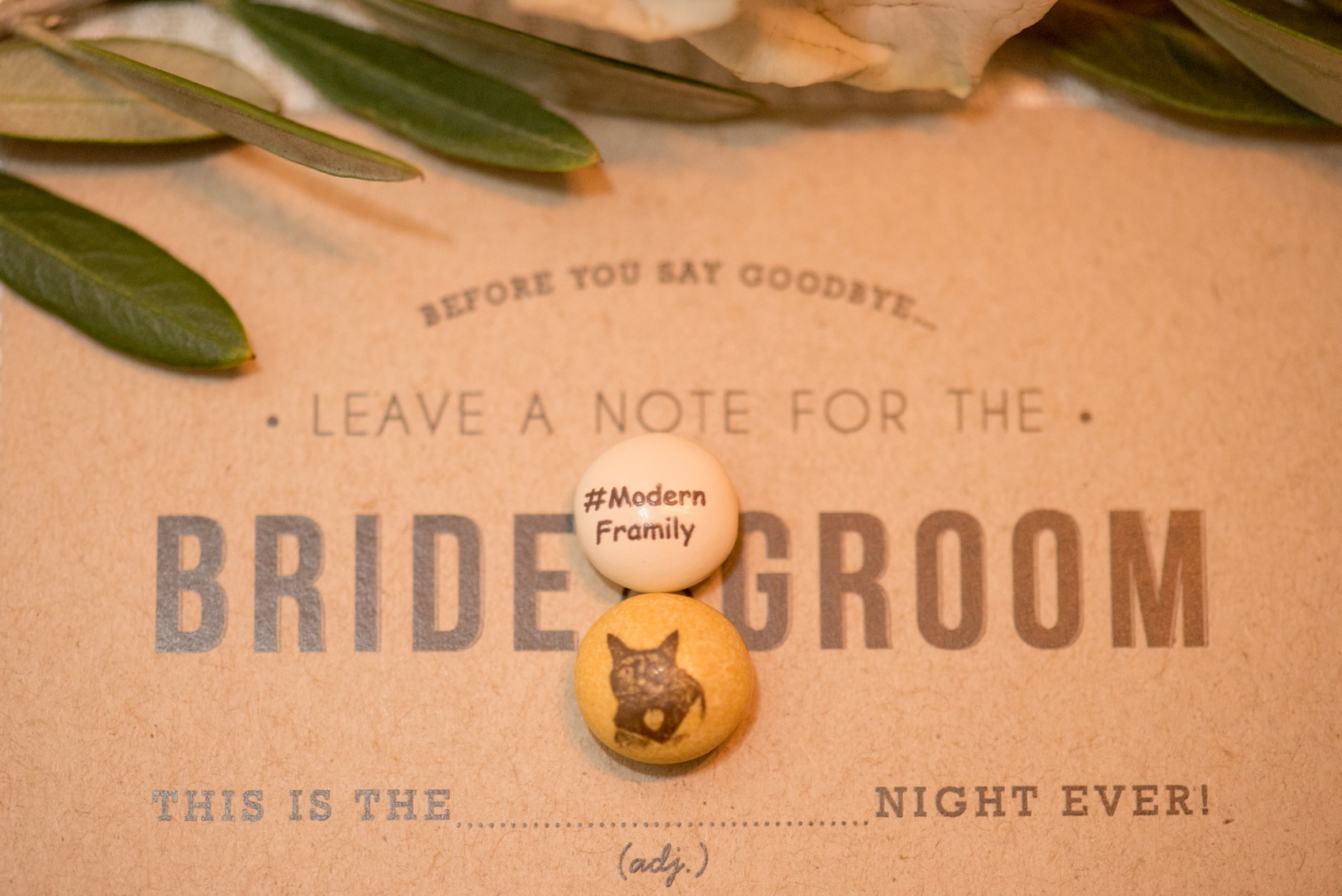 Estancia La Jolla wedding photography by Mikkel Paige Photography. Tropical wedding, California coast. Custom M&Ms!