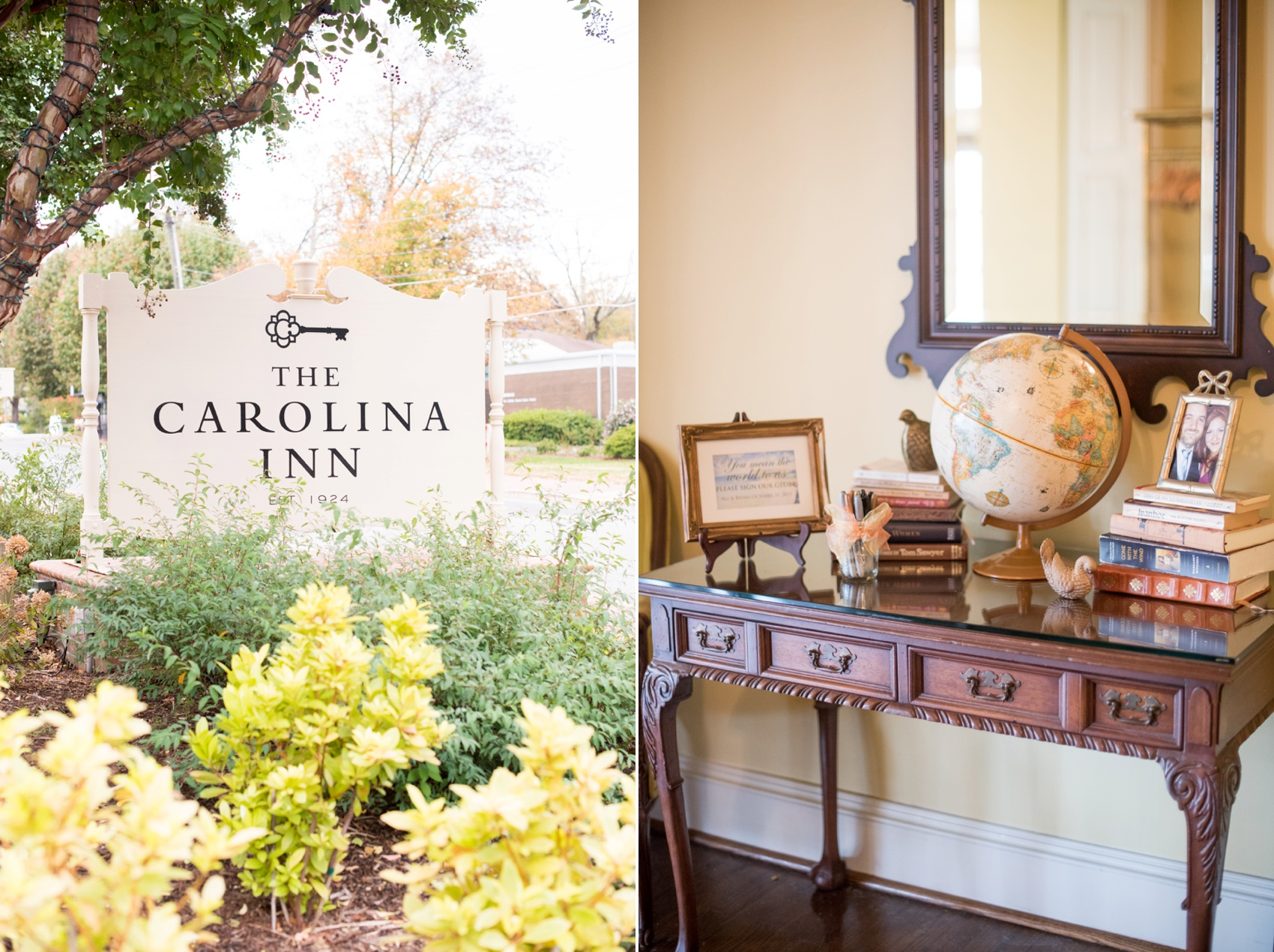 The Carolina Inn wedding photos by Mikkel Paige Photography, Raleigh wedding photographer. Planning by A Swanky Affair and flowers by Tre Bella for a vintage fall day.