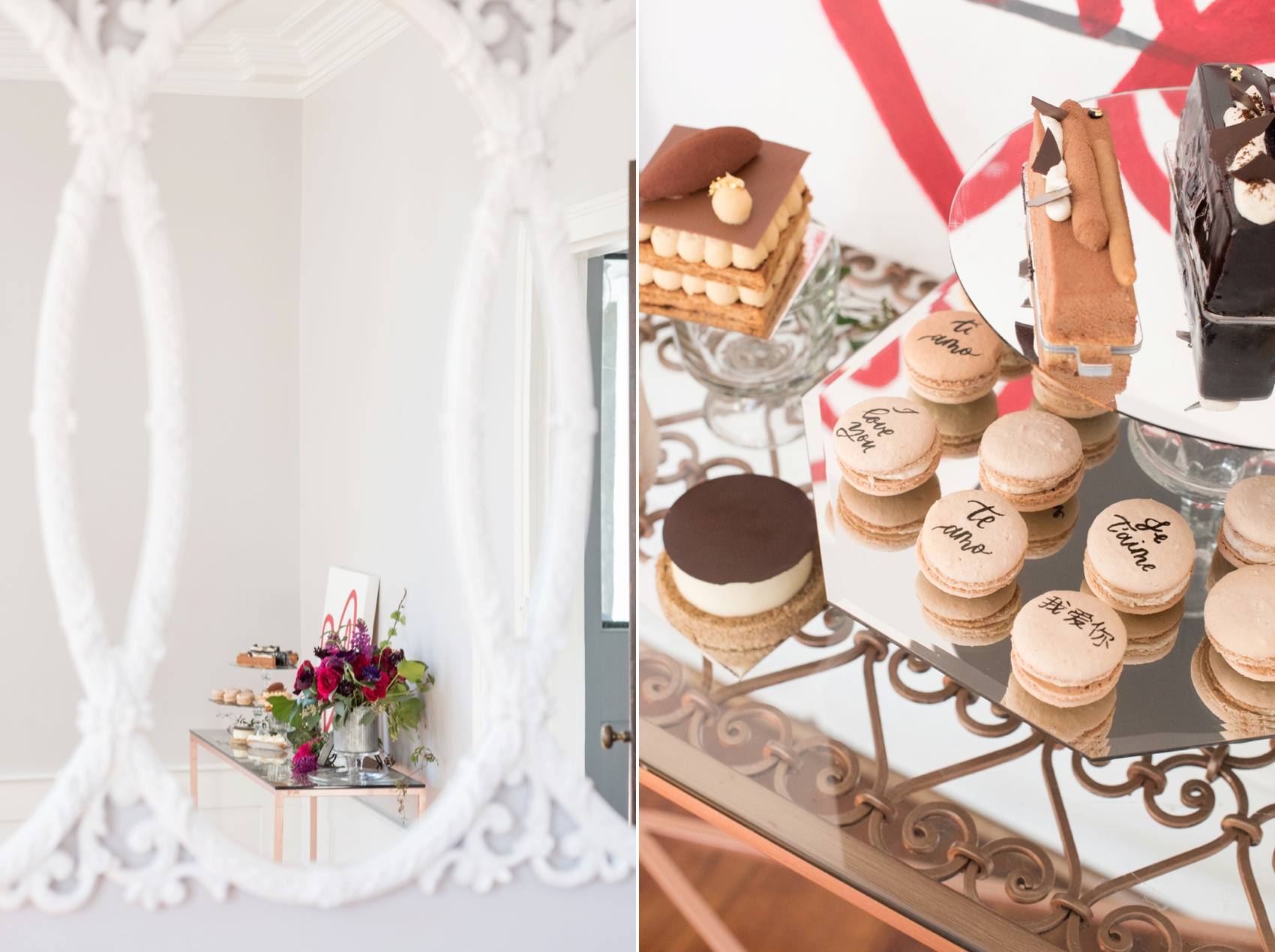 Mim's House NC proposal photos by Mikkel Paige Photography. French pastry dessert table and custom nail art.