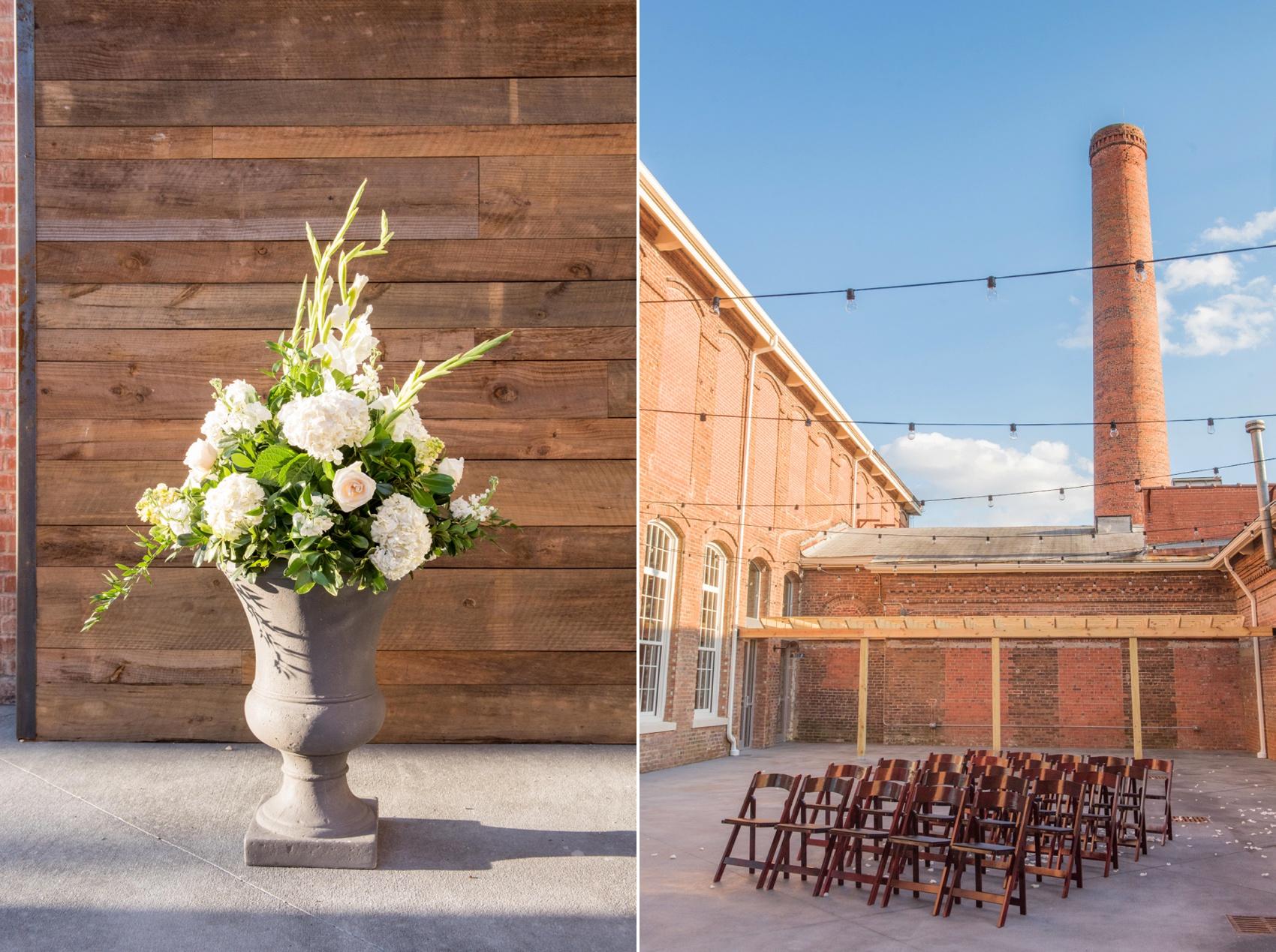 The Cloth Mill North Carolina wedding vendor showcase. Raleigh, Durham and Hillsborough vendors at a rustic, modern location.