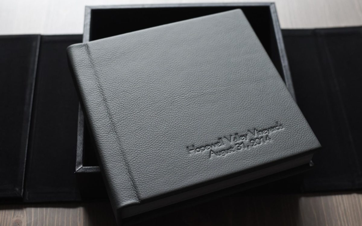Black Leather Wedding Album • Fine Art, Family Heirloom: Cesalie + Sam