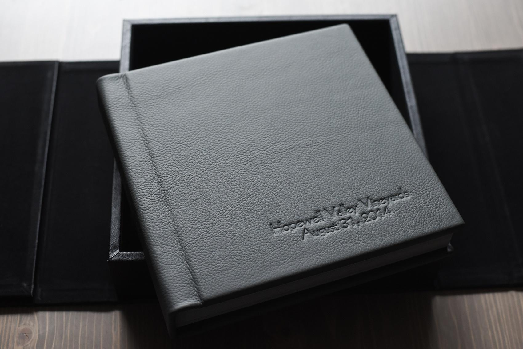 Fine Art Family Heirloom Wedding Album From Mikkel Paige Photography Vineyard In Black Leather