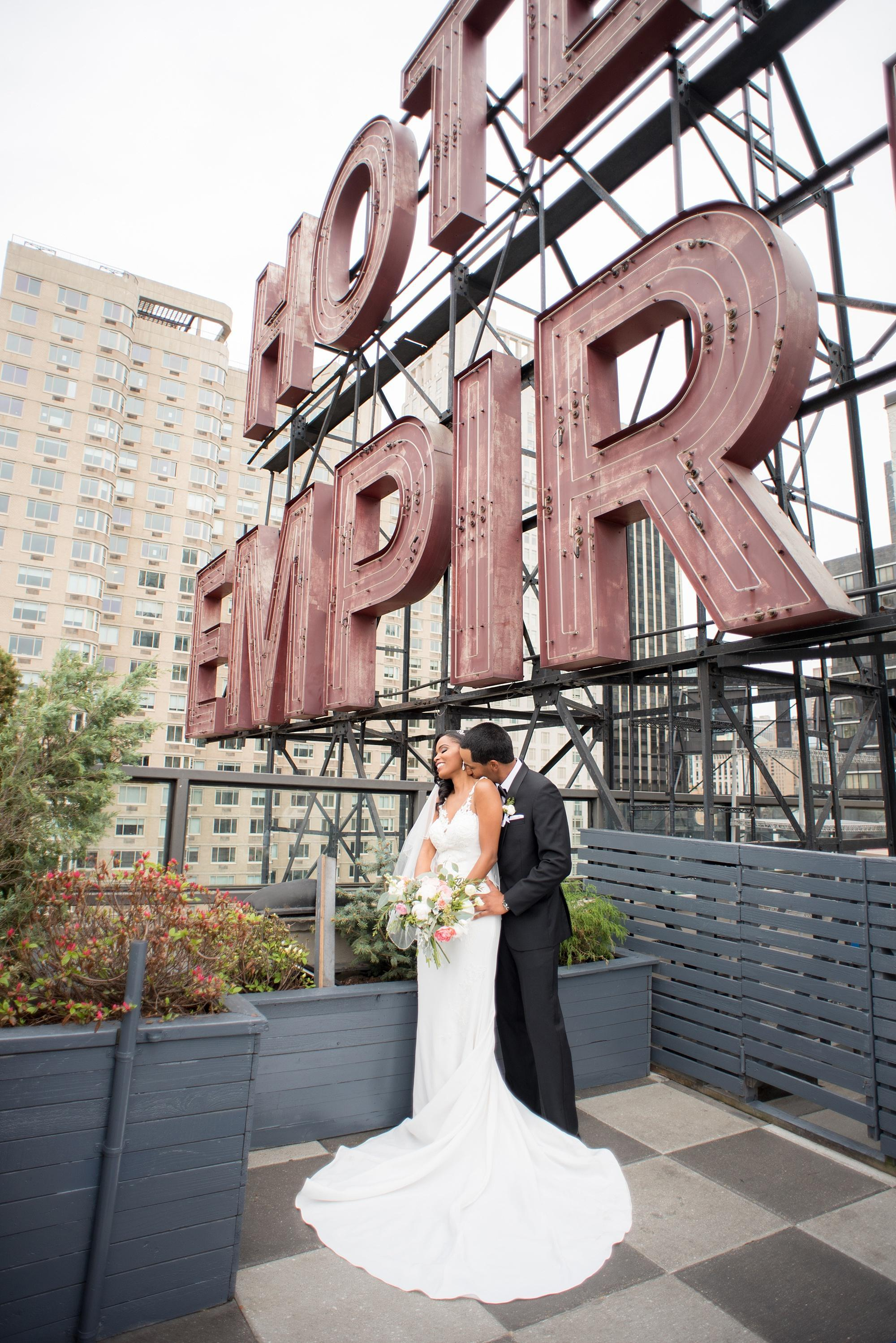 Wedding Party Photo By Mikkel Paige Photography Bride And Groom At Empire Hotel Rooftop Nyc