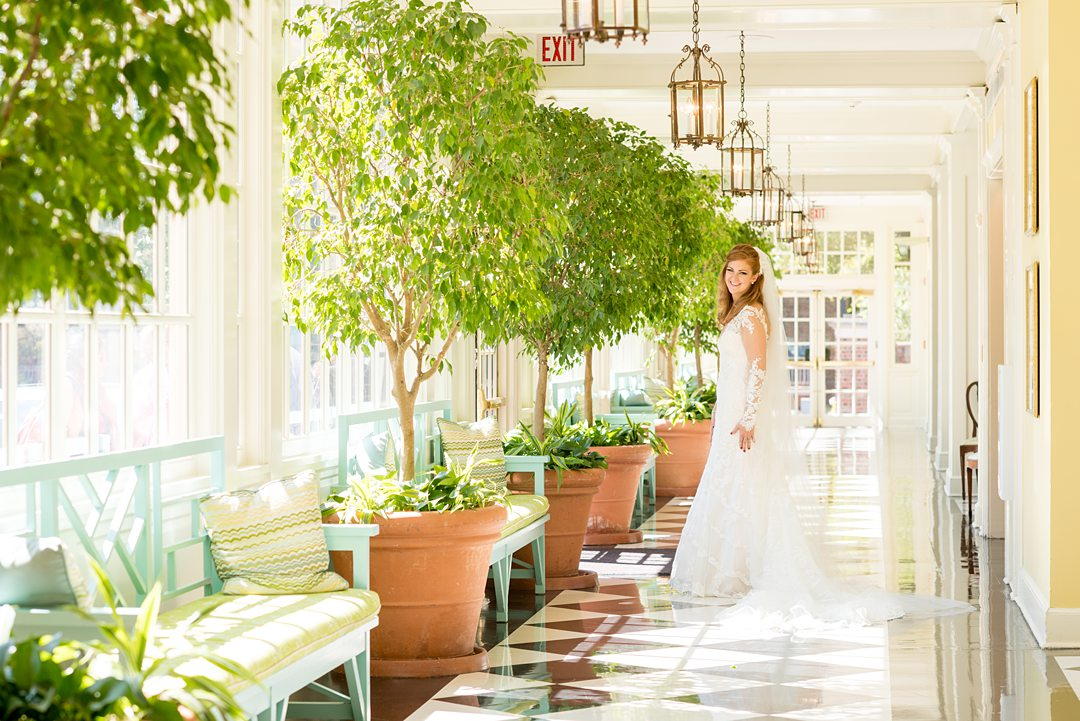 Photo of a bride at The Carolina Inn by Mikkel Paige Photography, in Chapel Hill, North Carolina.