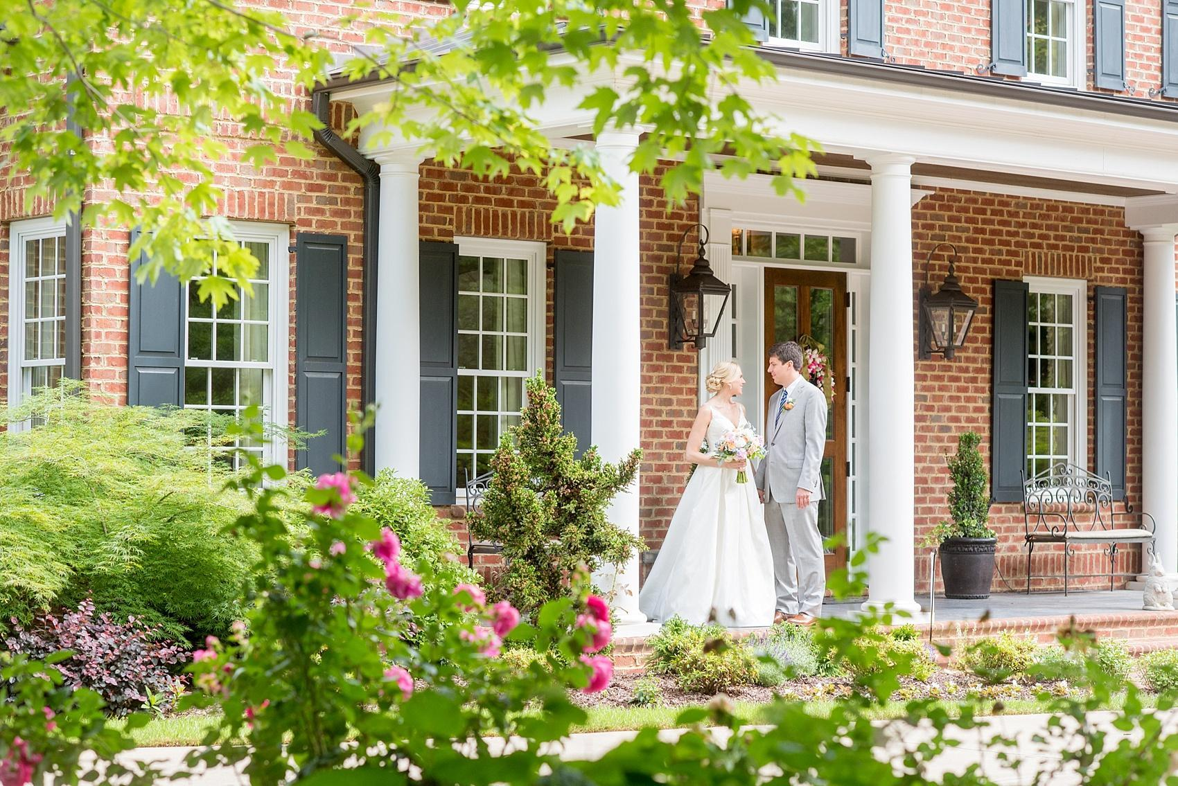Mikkel Paige Photography captures a wedding in downtown Raleigh, NC with spring roses.