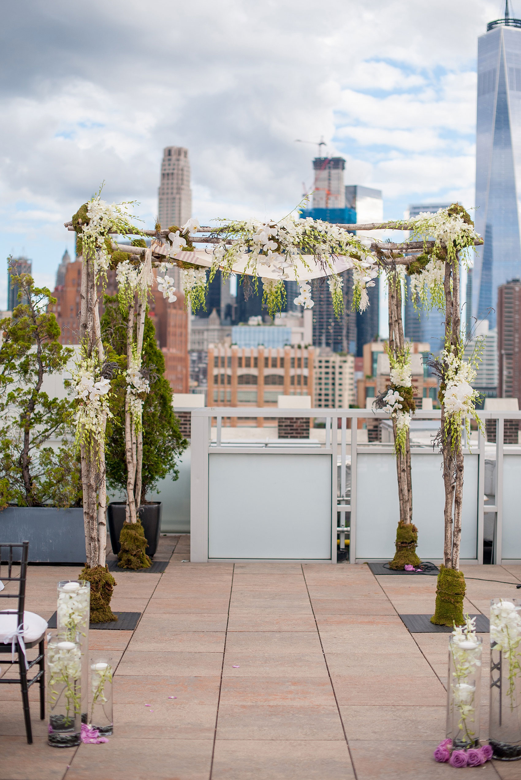 an image of the mikkel paige photography photos of a nyc wedding at tribeca rooftop