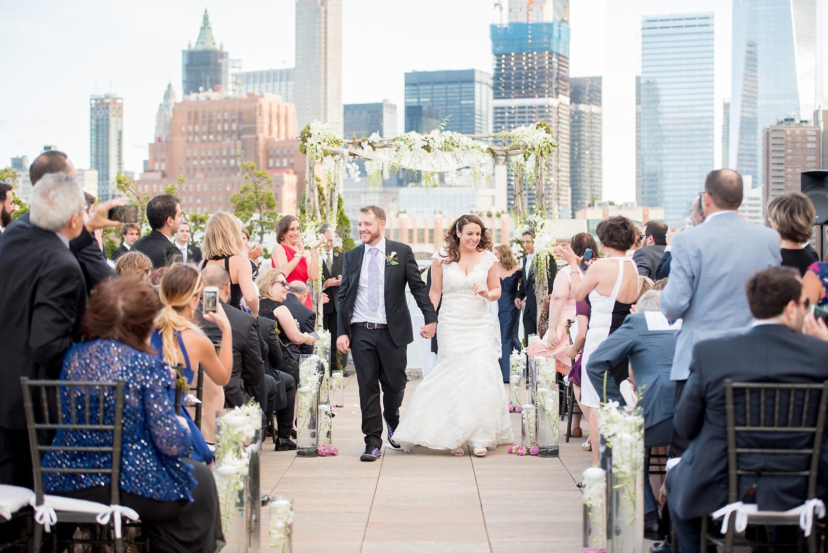 Beautiful Outdoor Wedding Ceremony At Tribeca Rooftop: Tribeca Rooftop Wedding Photos • Bri + Phil