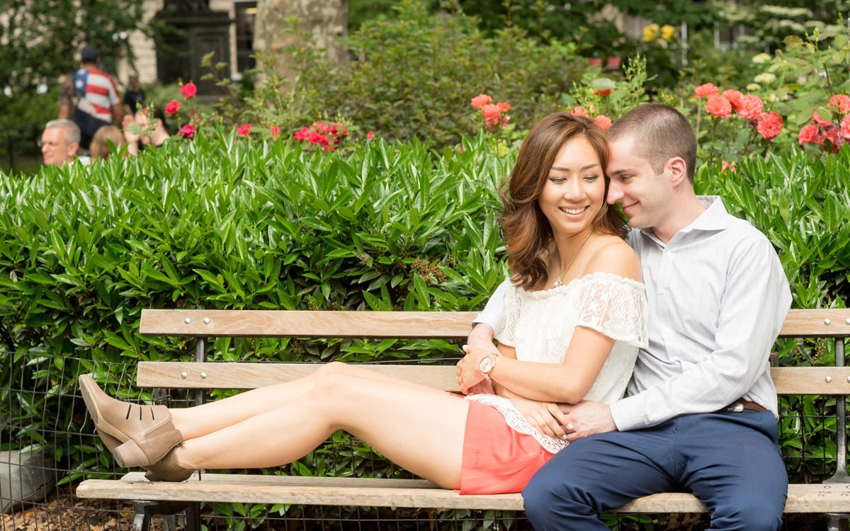 Madison Square Park Engagement Photos NYC • Esther + Greg