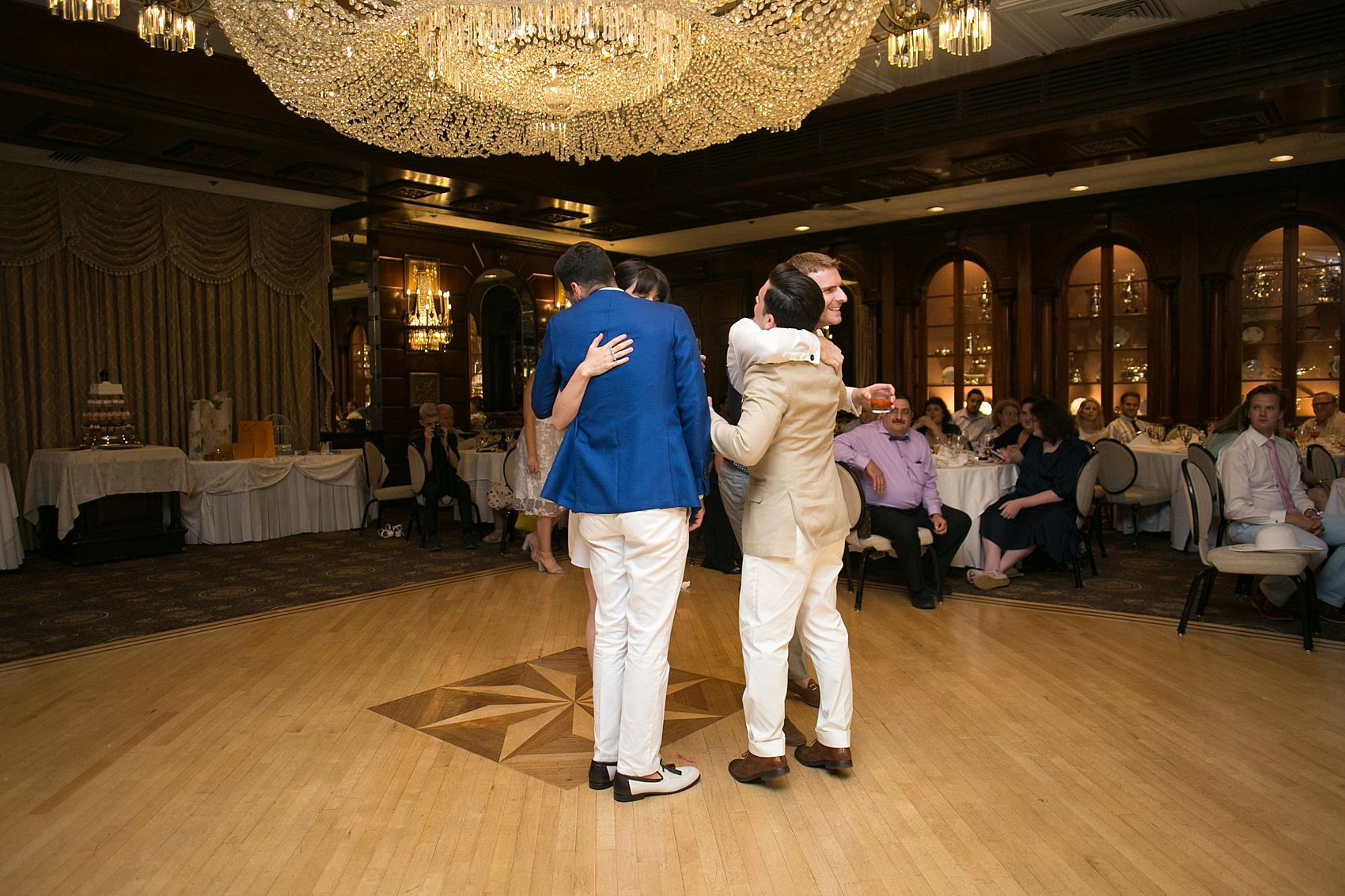 Mikkel Paige Photography photos of a gay wedding at The Manor in West Orange, NJ. Daytime reception with brunch buffet.