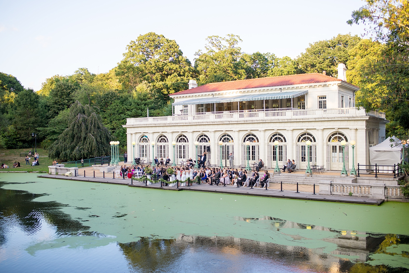 Mikkel Paige Photography Photo Of An Outdoor Ceremony At A Prospect Park Boathouse Wedding