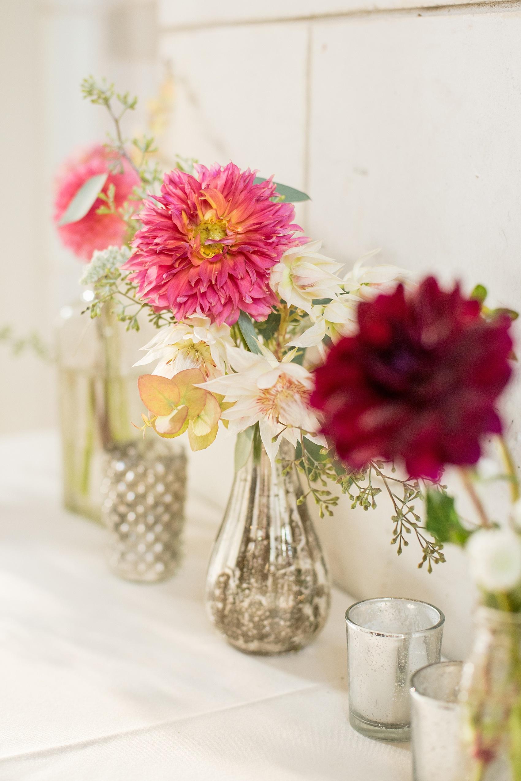 Prospect park brooklyn boathouse wedding photos rachel joe mikkel paige photography photo of dahlia bud vases in mercury glass by sachi rose for a reviewsmspy